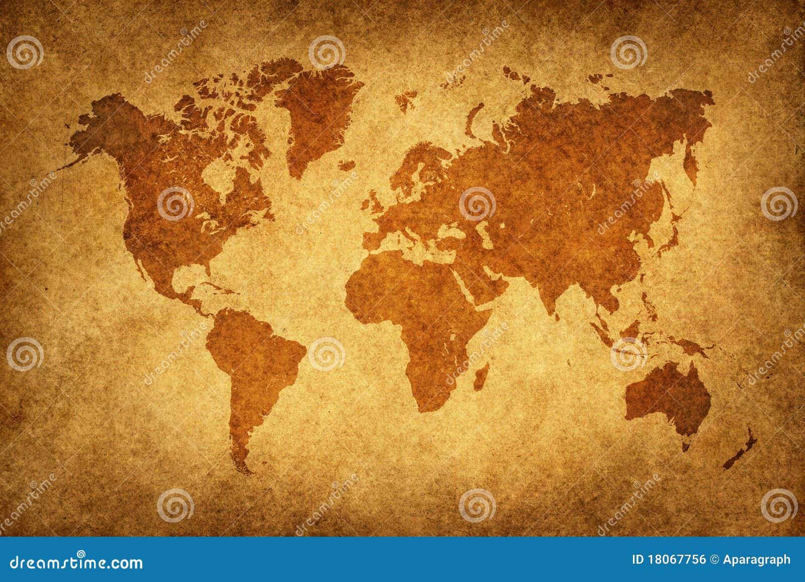 World Map In Vintage Pattern Stock Illustration - Illustration of ...