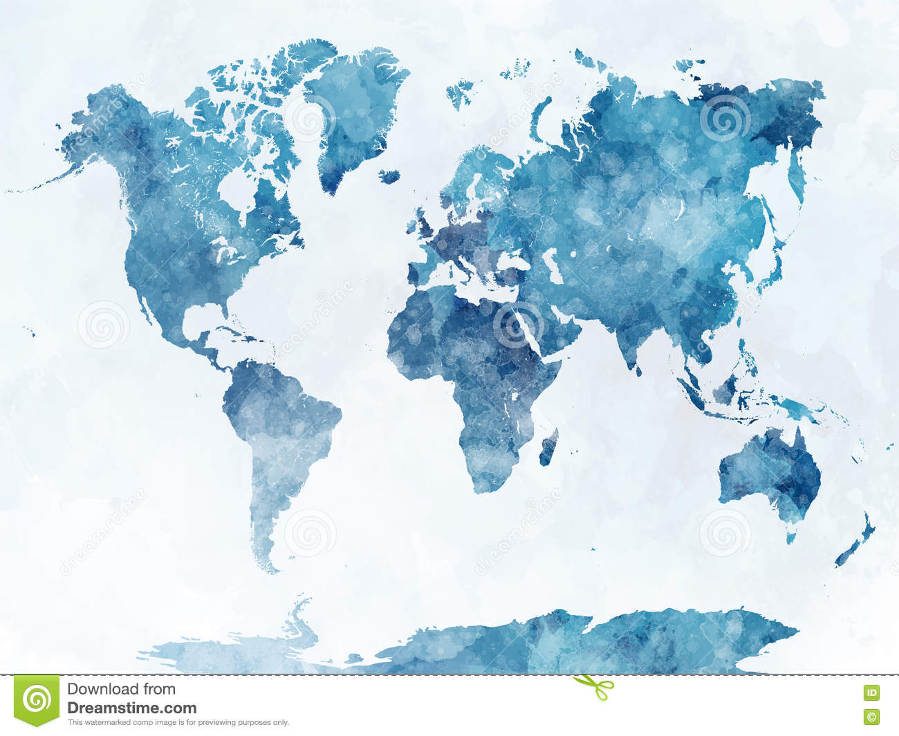 World map in watercolor stock illustration illustration of earth download comp publicscrutiny Image collections