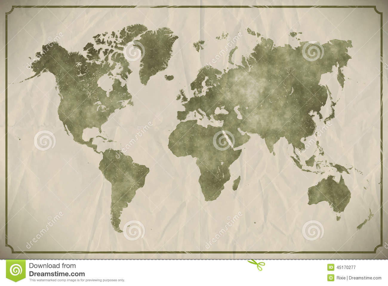 World map watercolour stock vector illustration of earth 45170277 world map watercolour royalty free vector download gumiabroncs Image collections