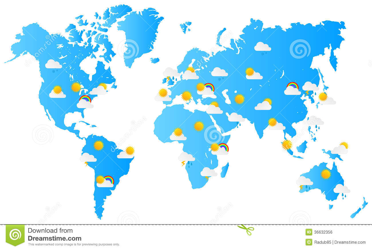world map weather forecast stock vector image of news   - world map weather forecast