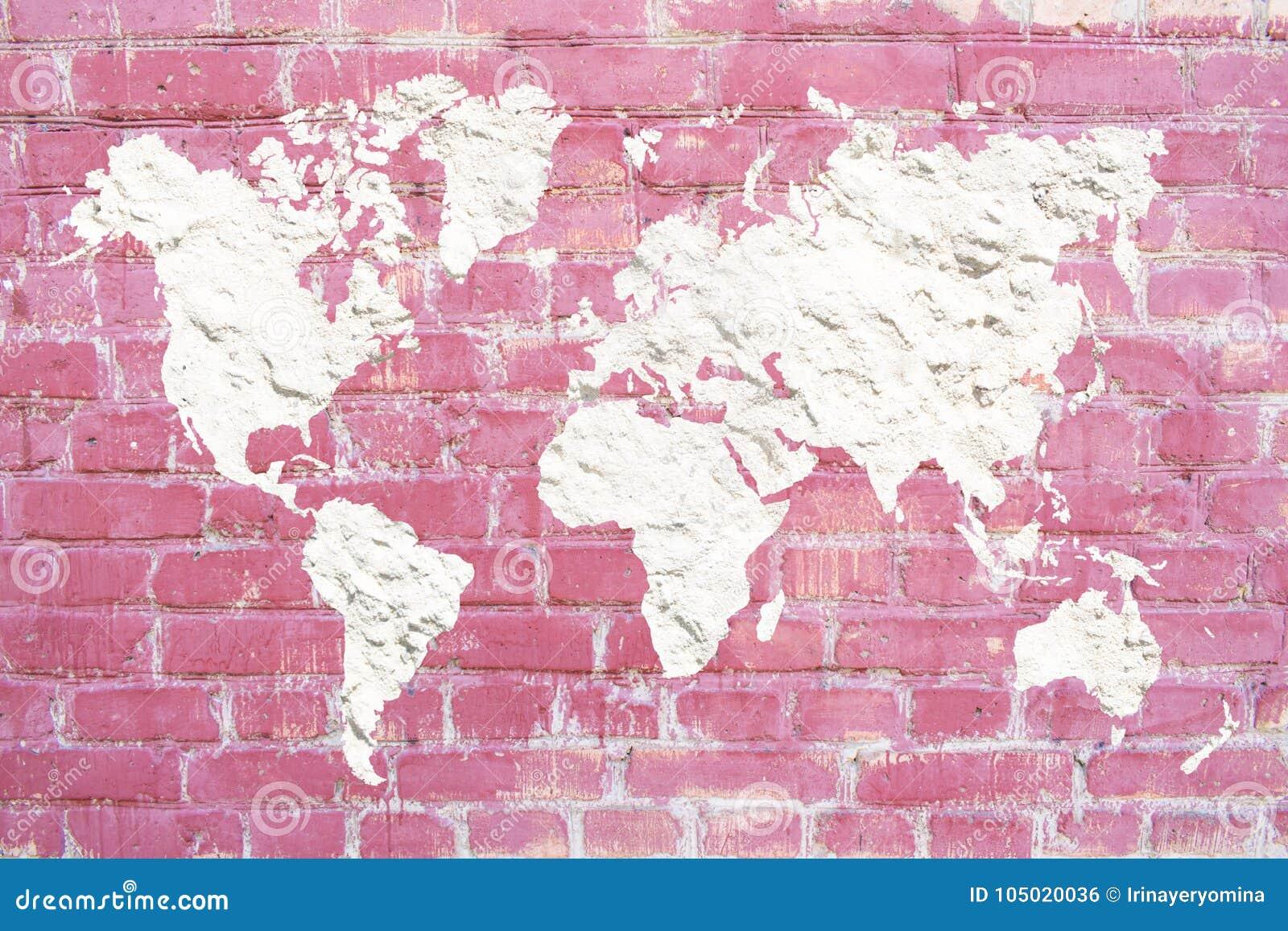 World Map Contours Stock Photos