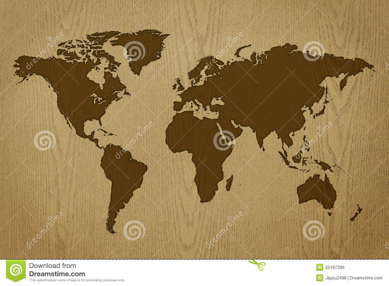 Wood world map vintage artwork stock illustration illustration of world map on wood texture royalty free stock images gumiabroncs Gallery