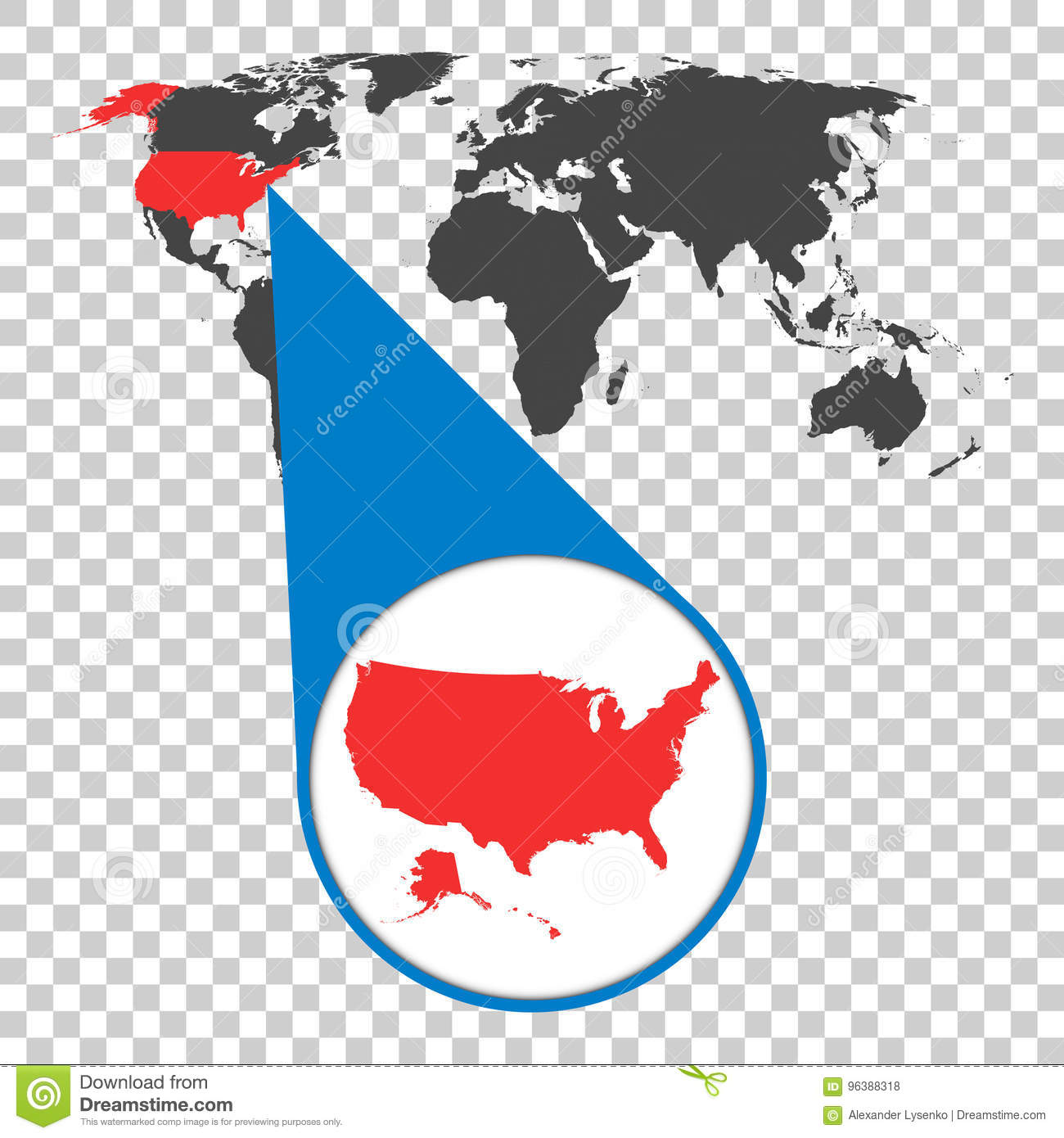 World Map With Zoom On USA. America Map In Loupe. Vector ... on massachusetts on map of usa, funny maps of usa, mapmof usa, large map of usa, diversity map usa, united states maps usa, satellite maps of usa, invasion maps of usa, show me a map of the usa, map of destruction of usa, full map of usa, i-40 map usa, atlas western usa, highway map of eastern usa, print maps of usa, virtual live satellite maps usa, world map usa, view maps of usa, map flight usa,