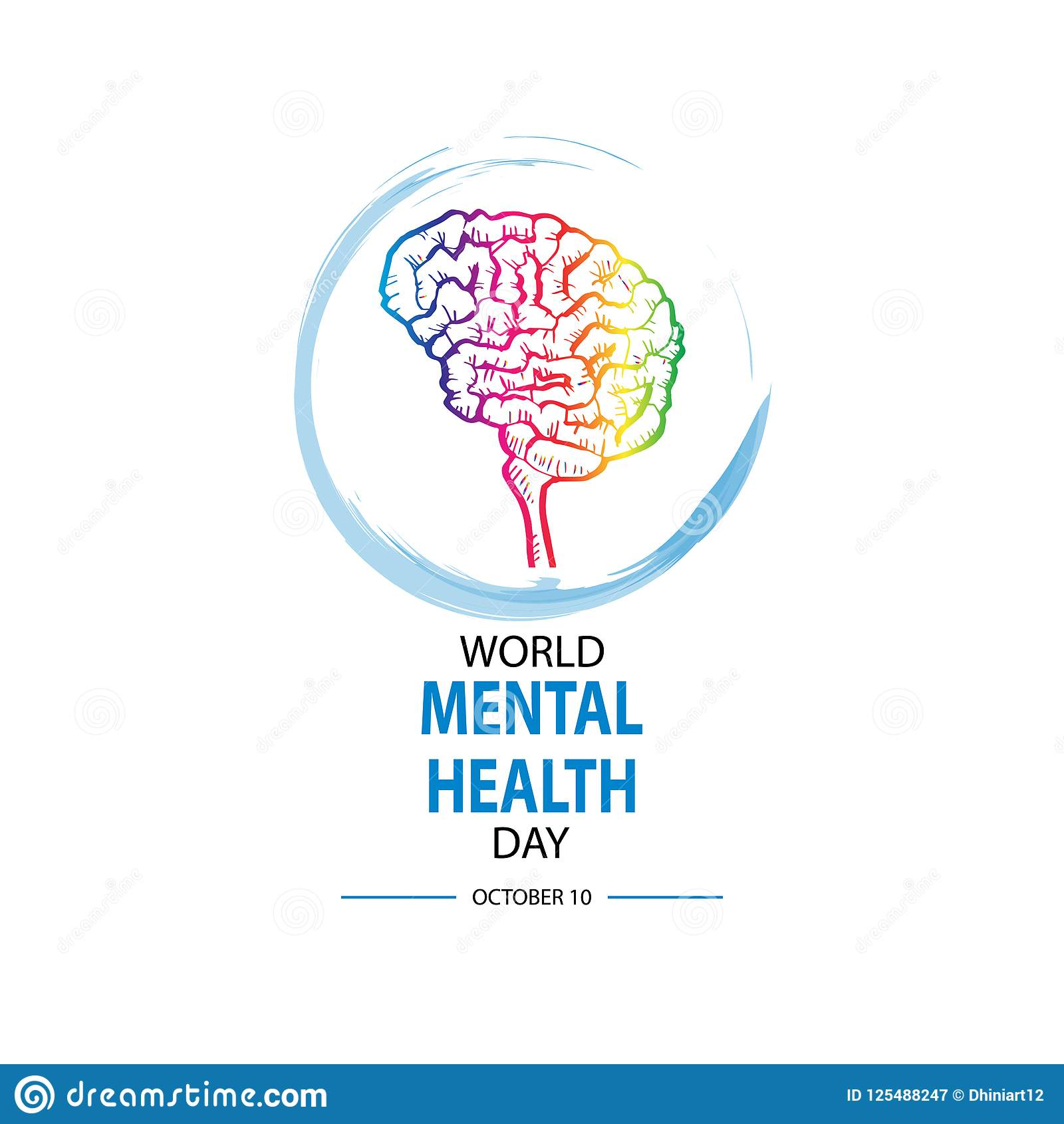 World Mental Health Day stock illustration. Illustration ...