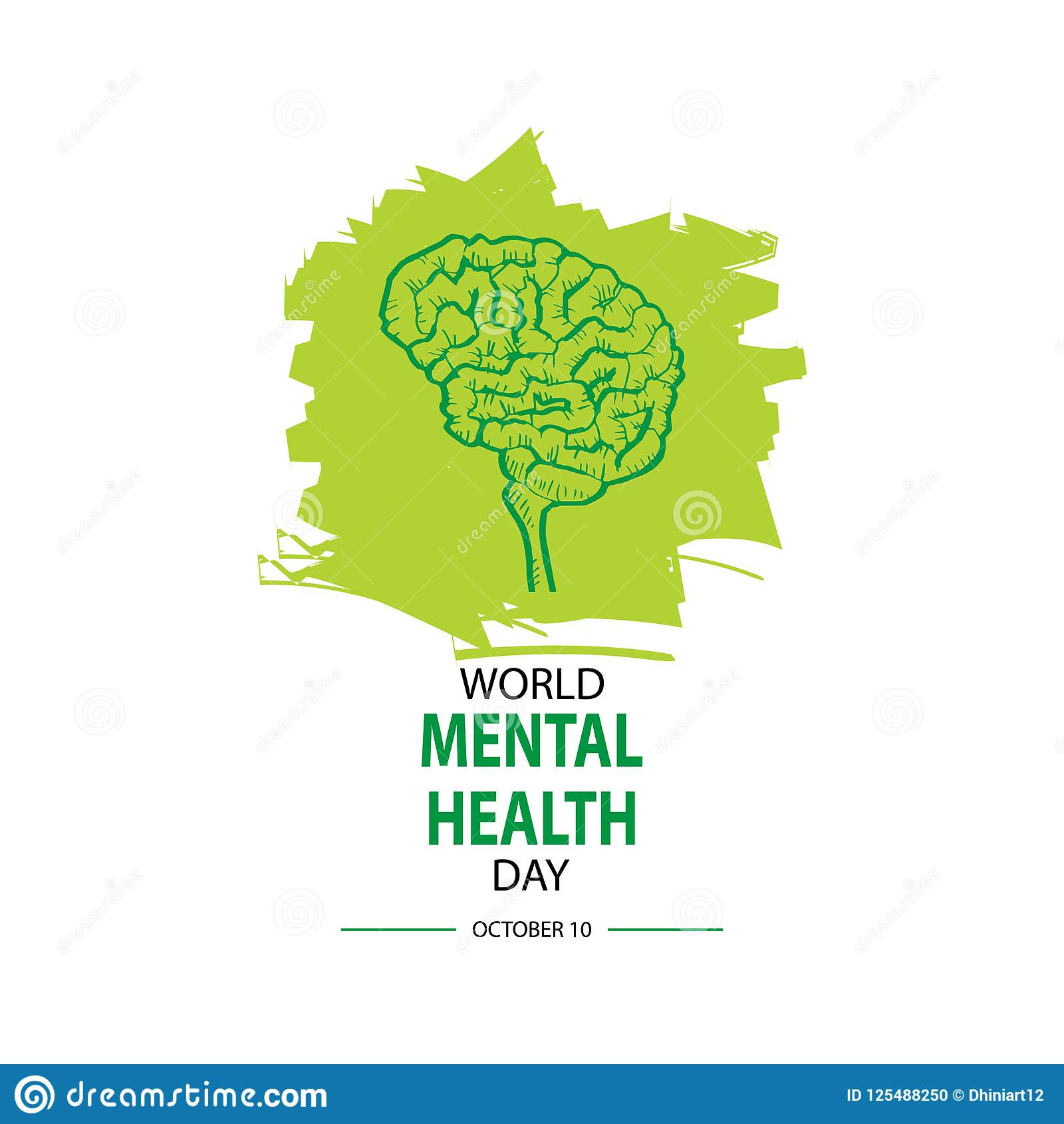 Download World Mental Health Day Stock Illustration Of Background