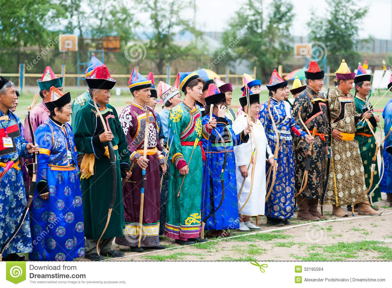 Ulan-Ude Russia  city photos gallery : ULAN UDE, RUSSIA JULY 16: Archers line up before a Mongolian archery ...