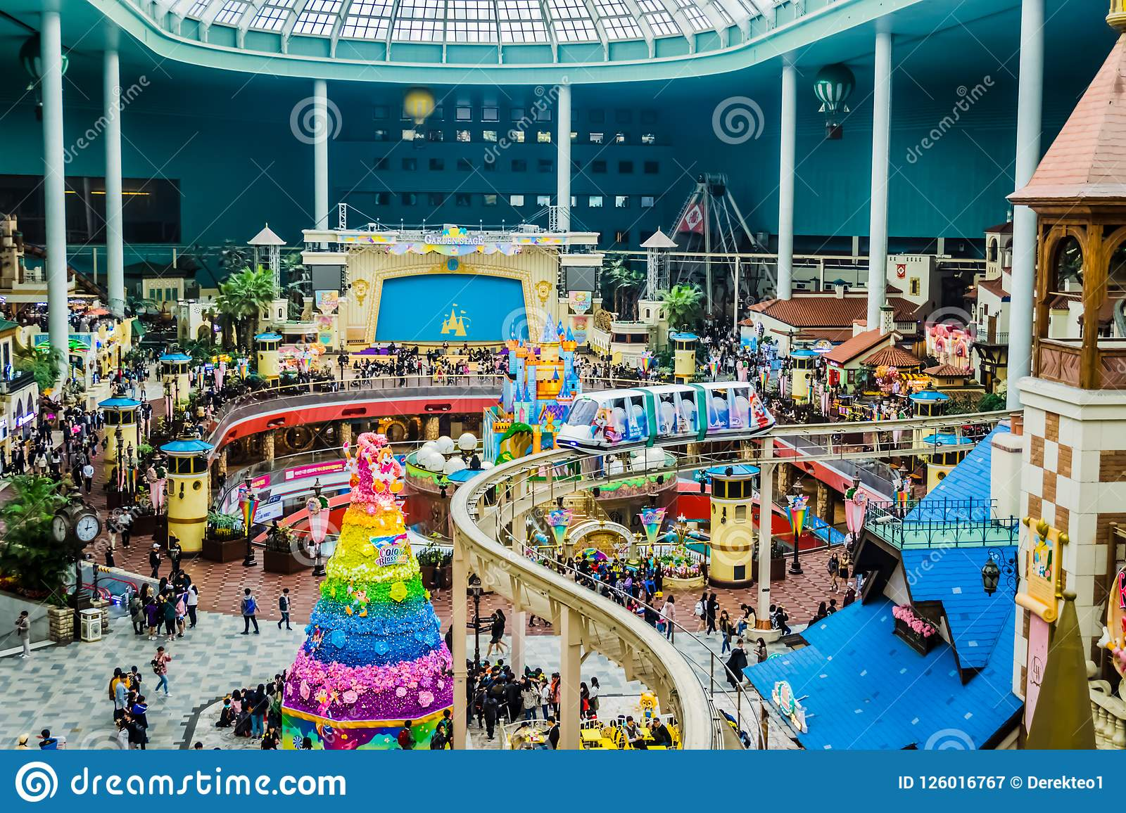 World Monorail In Lotte World Adventure Theme Park Editorial