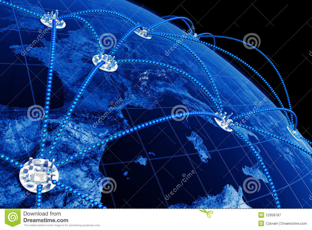 World Network Royalty Free Stock Photography Image 12958187
