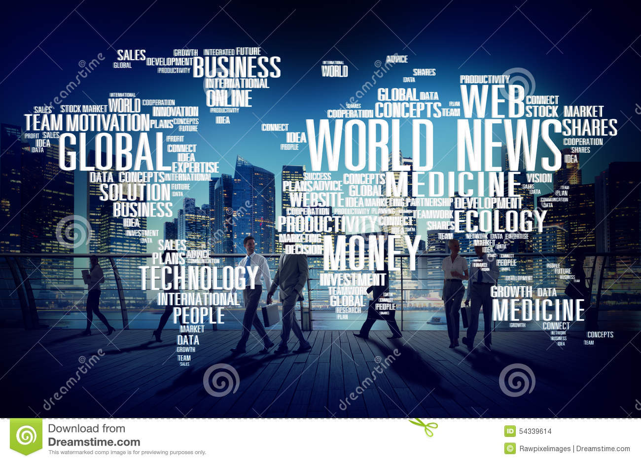 World News Globalization Advertising Event Media Concept Stock Photo ...