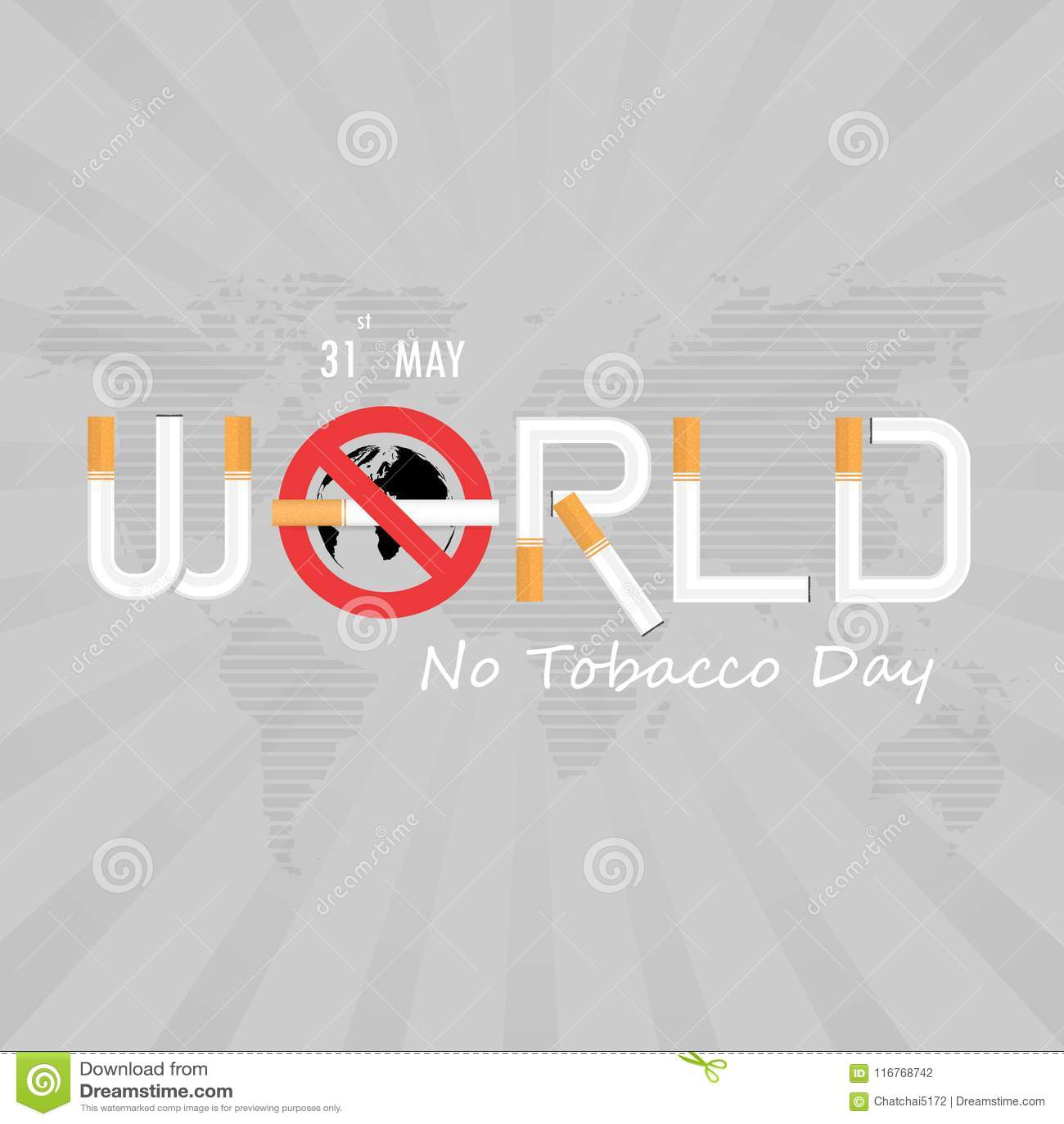 World No Tobacco Day Calligraphy Background Design World No Smok
