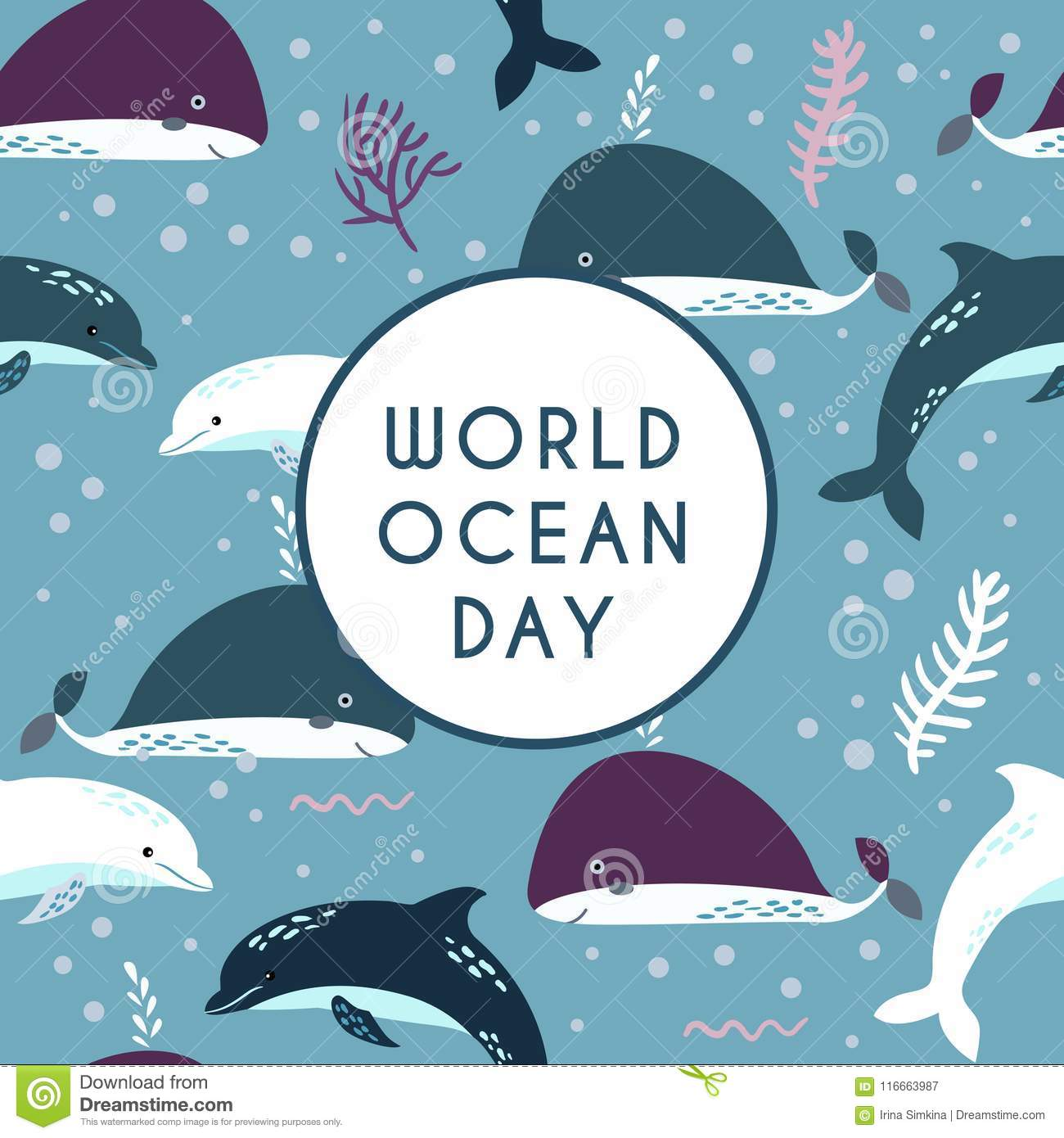 World ocean day. Element of image furnished by NASA