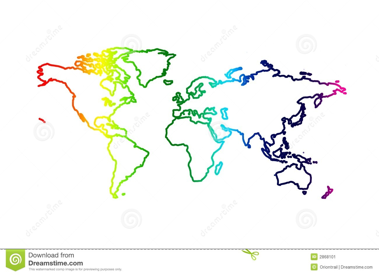 World outline map stock illustration. Illustration of america - 2868101