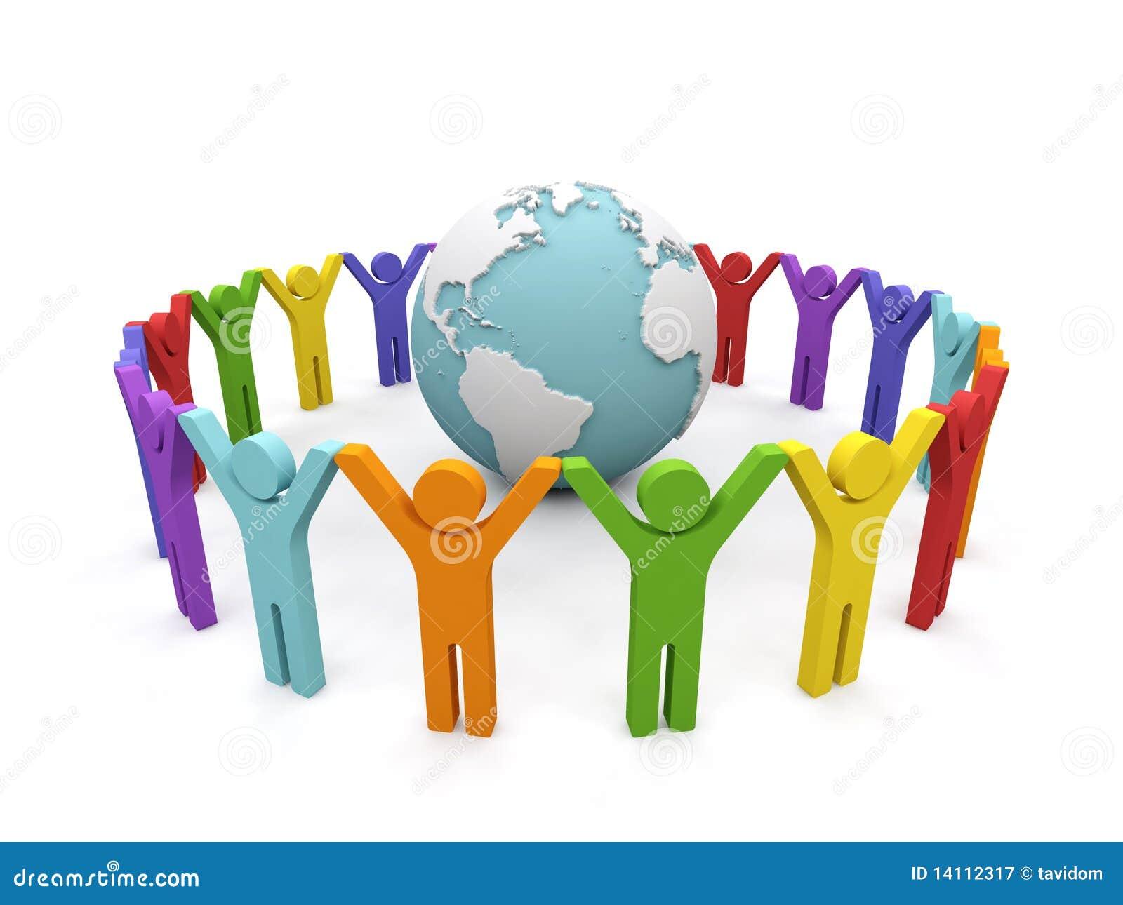 world partnership stock photo cartoondealer com 35694906 Party Clip Art crowd of people clip art