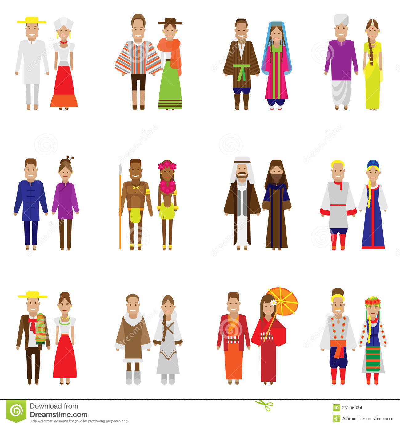 world people icon set stock vector illustration of people 35206334