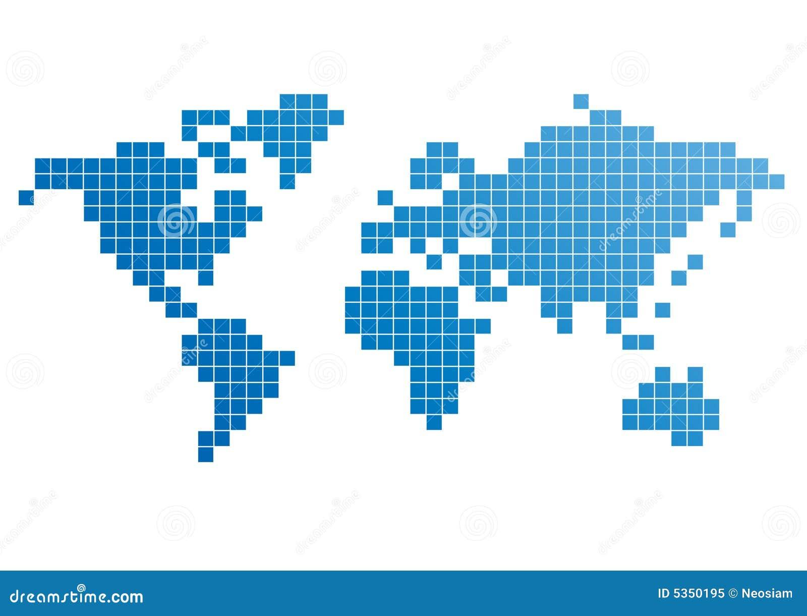 World Pixel Map Stock Vector Illustration Of Europe Modern