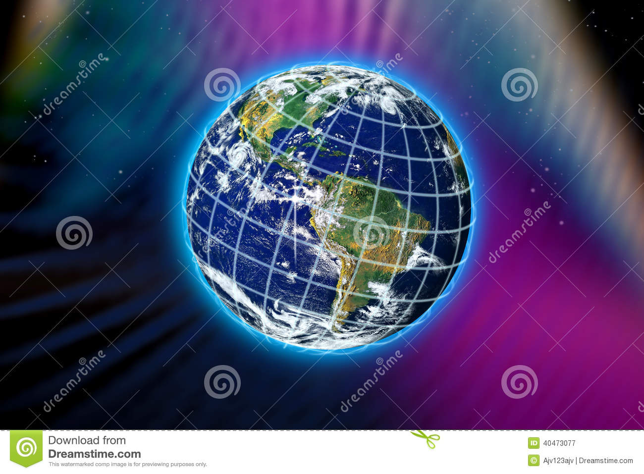 World planet earth stock illustration image of climate for Space created