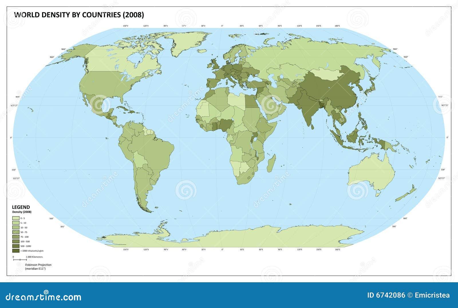 World Population Density Map Royalty Free Image Image 6742086 – Map World Population
