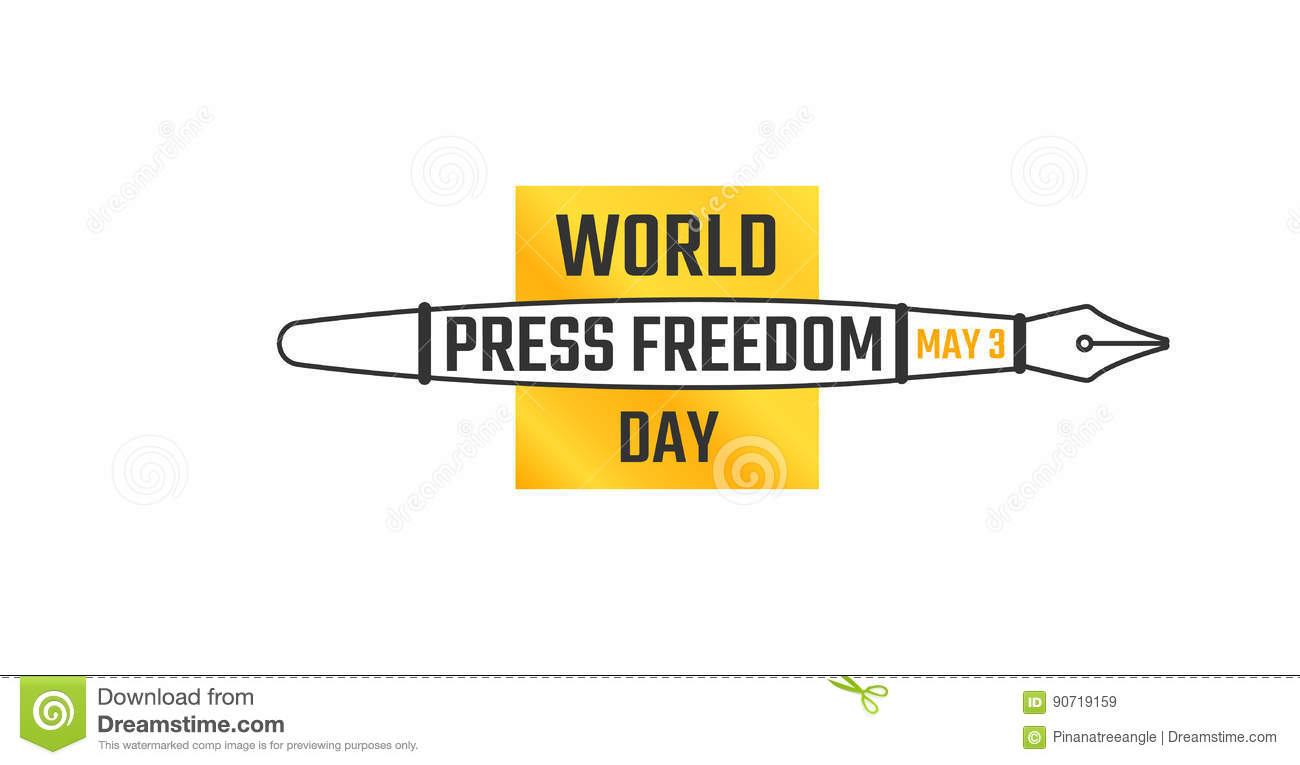 World Press Freedom Day May 3 Stock Illustration Illustration Of