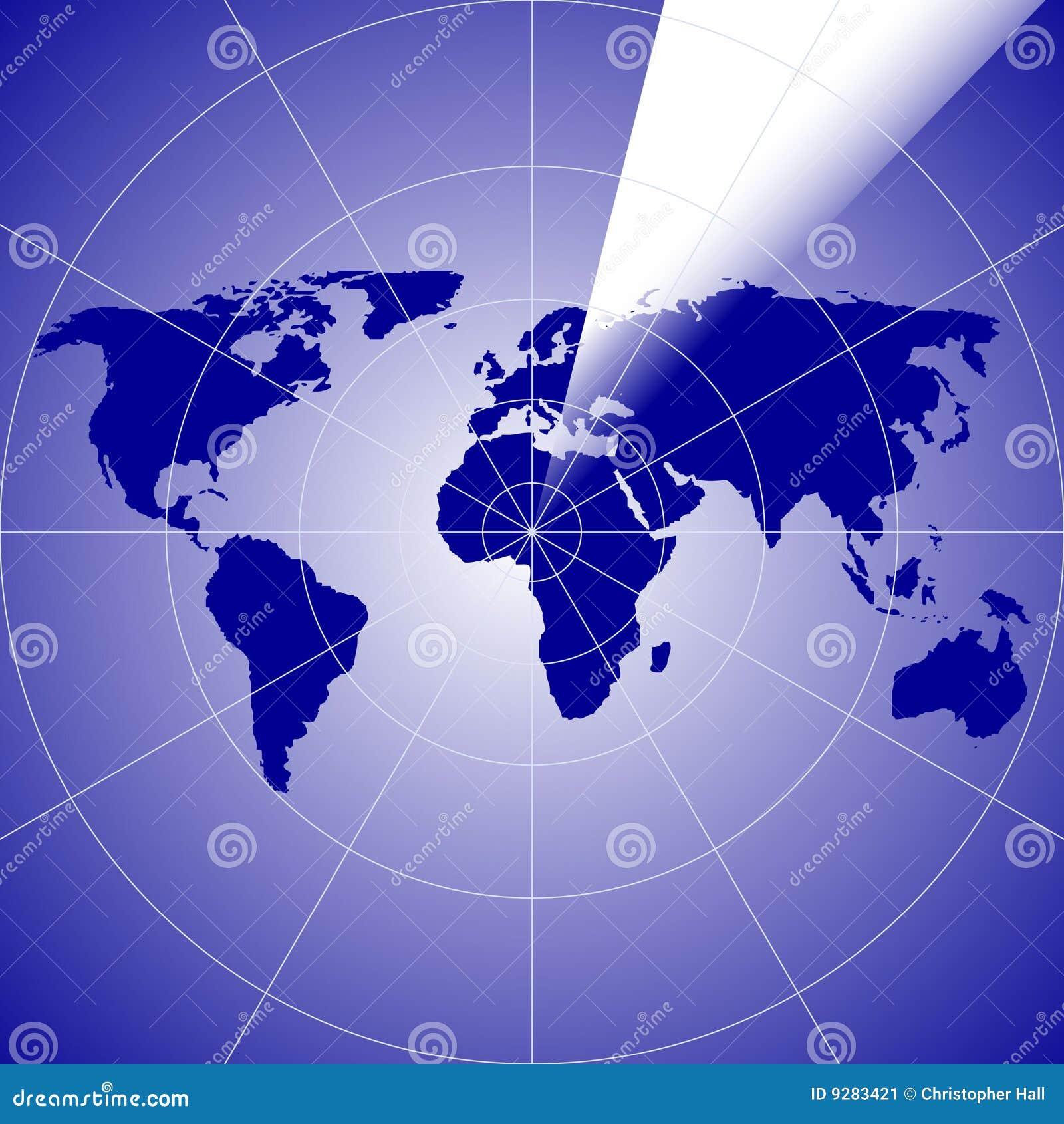 World Radar Stock Image Image 9283421
