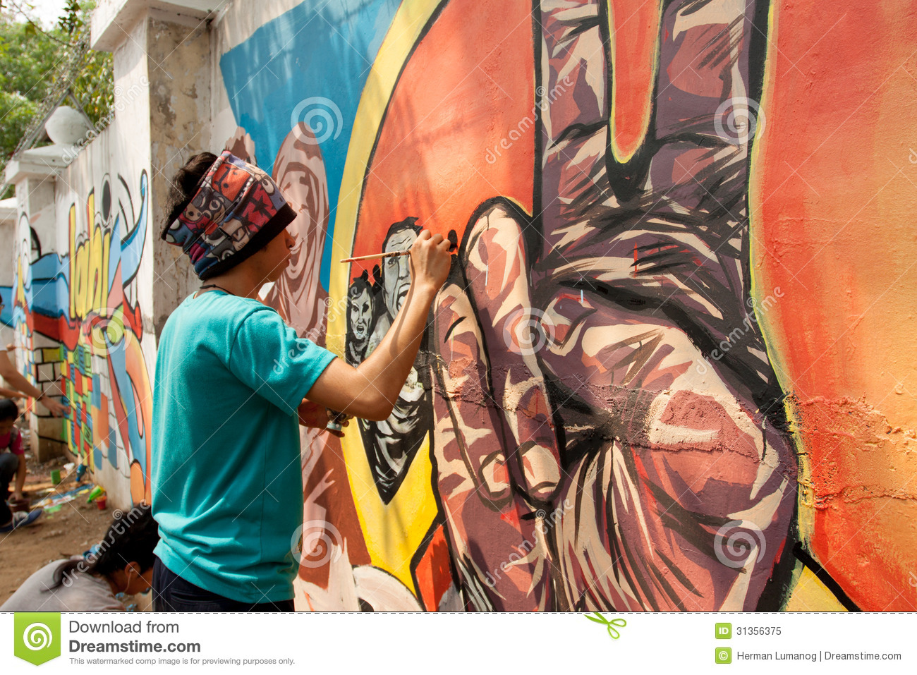 World Record Peace Mural Painting In Manila Philippines Editorial