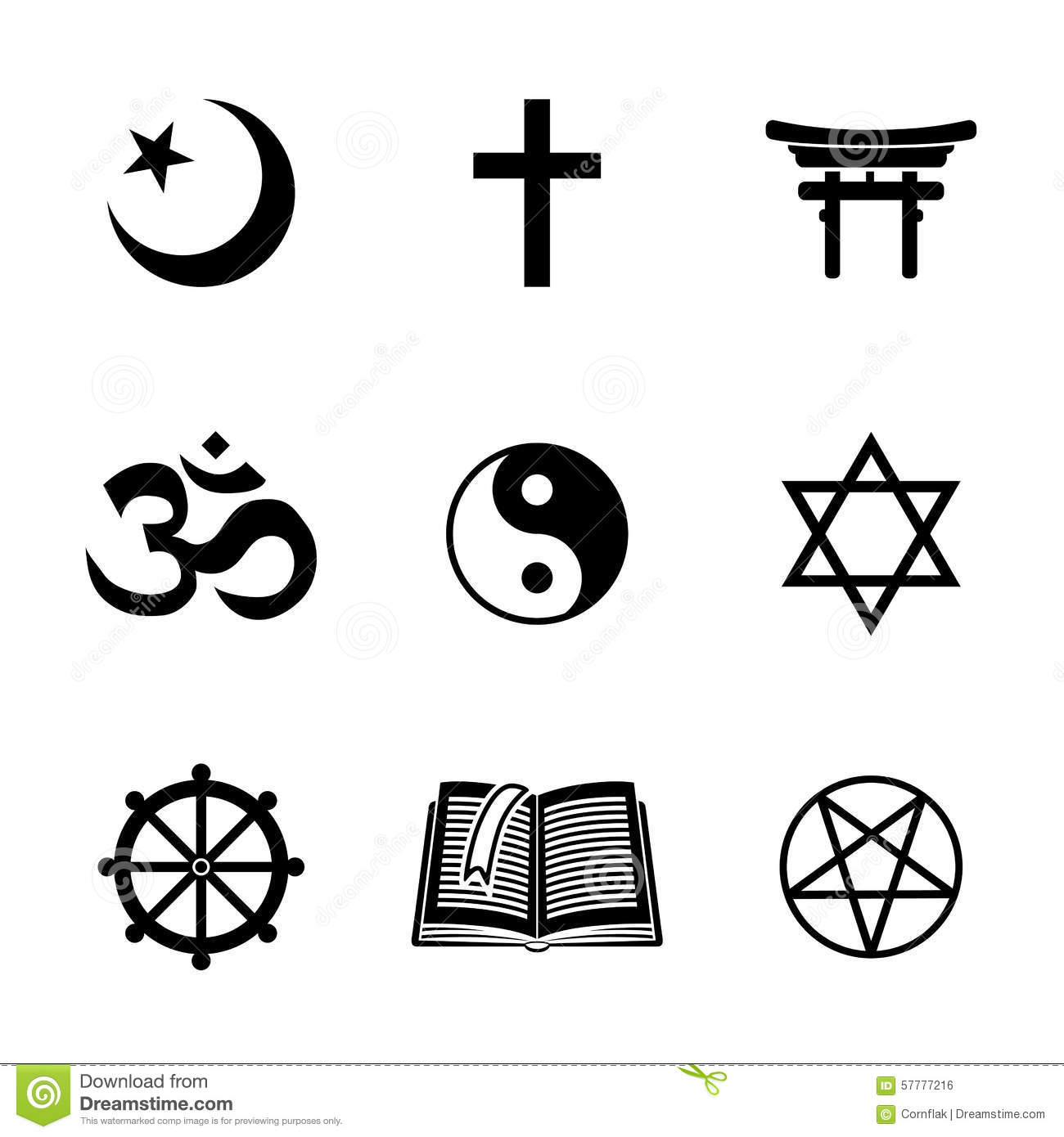World Religion Symbols Stock Vector Illustration Of Faith 8129331