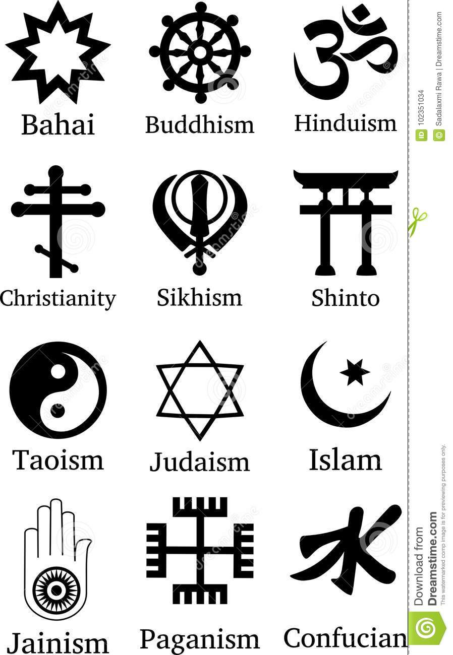 World Religion Symbols Stock Photo Illustration Of Confucian