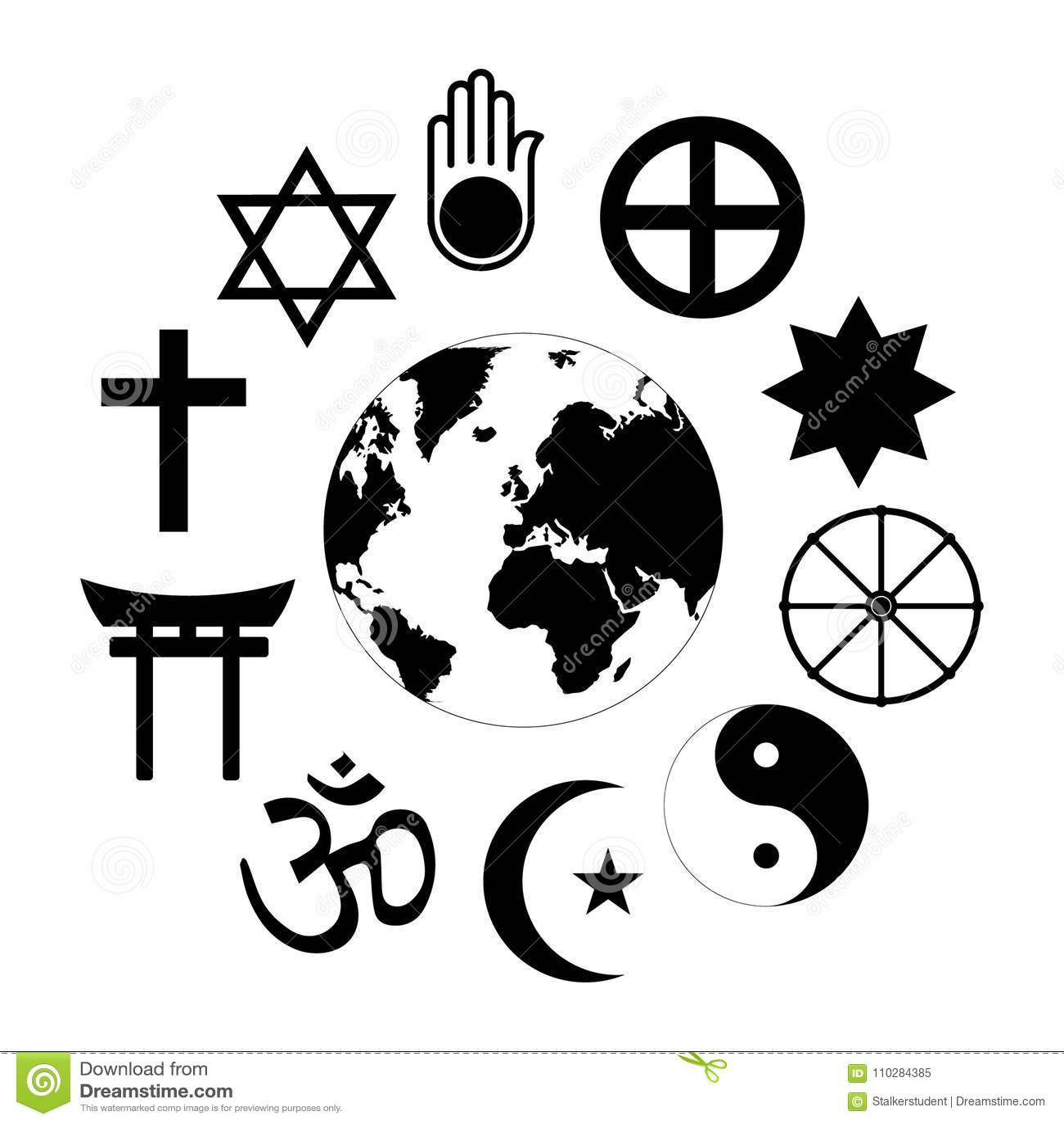 World Religions Planet Earth Flower World Religions Flower Icon
