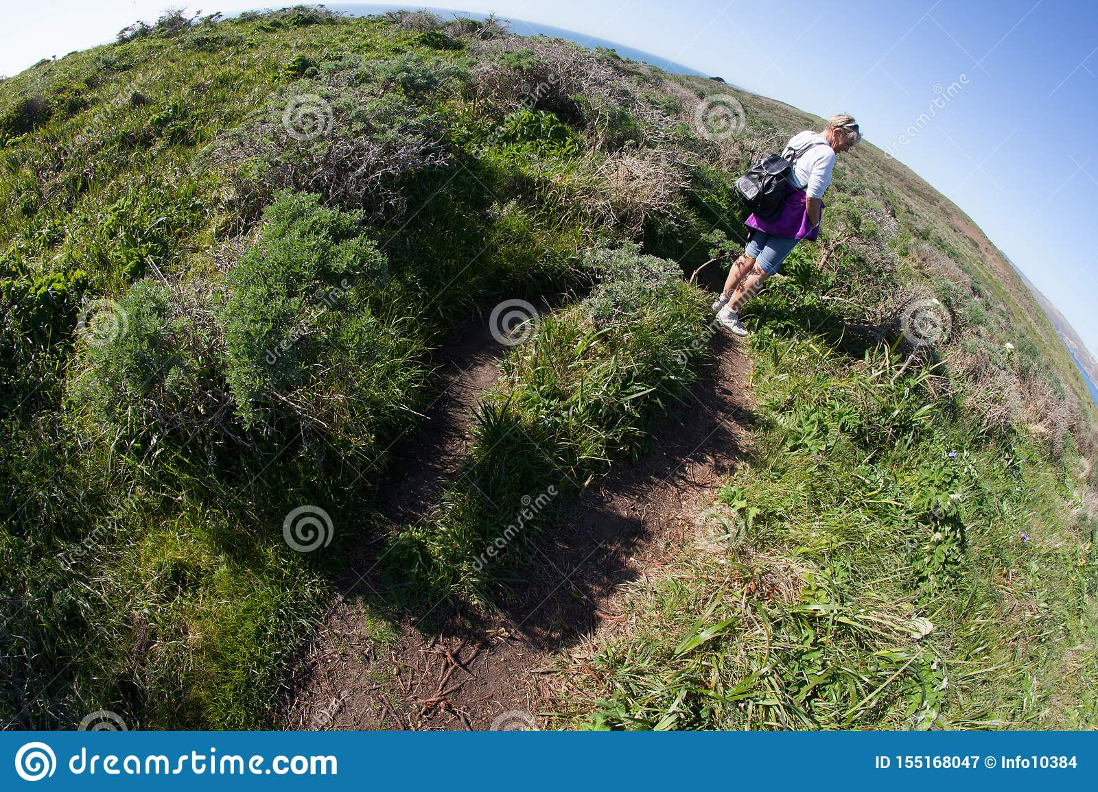The world is round hiking trail