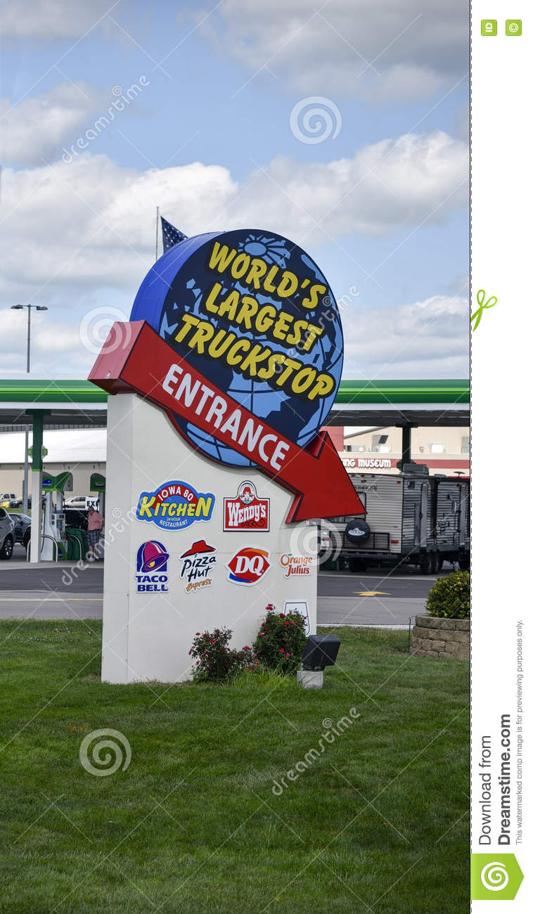 World's Largest truck stop editorial photography  Image of