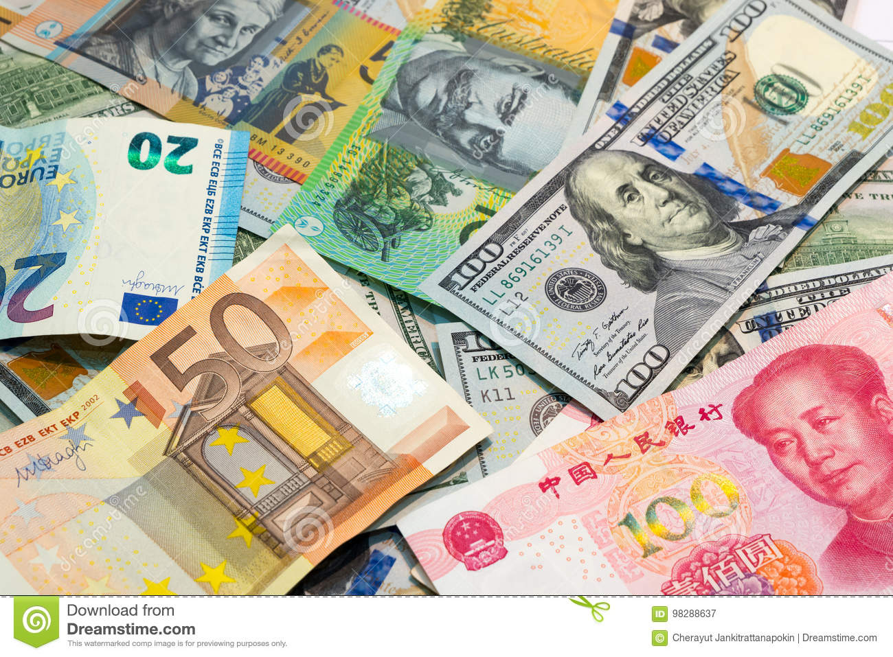 World's Major Currencies As Money Background. Stock Image - Image of foreign, colorful: 98288637
