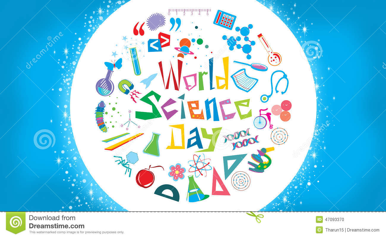 World Science Day Stock Illustration - Image: 47093370