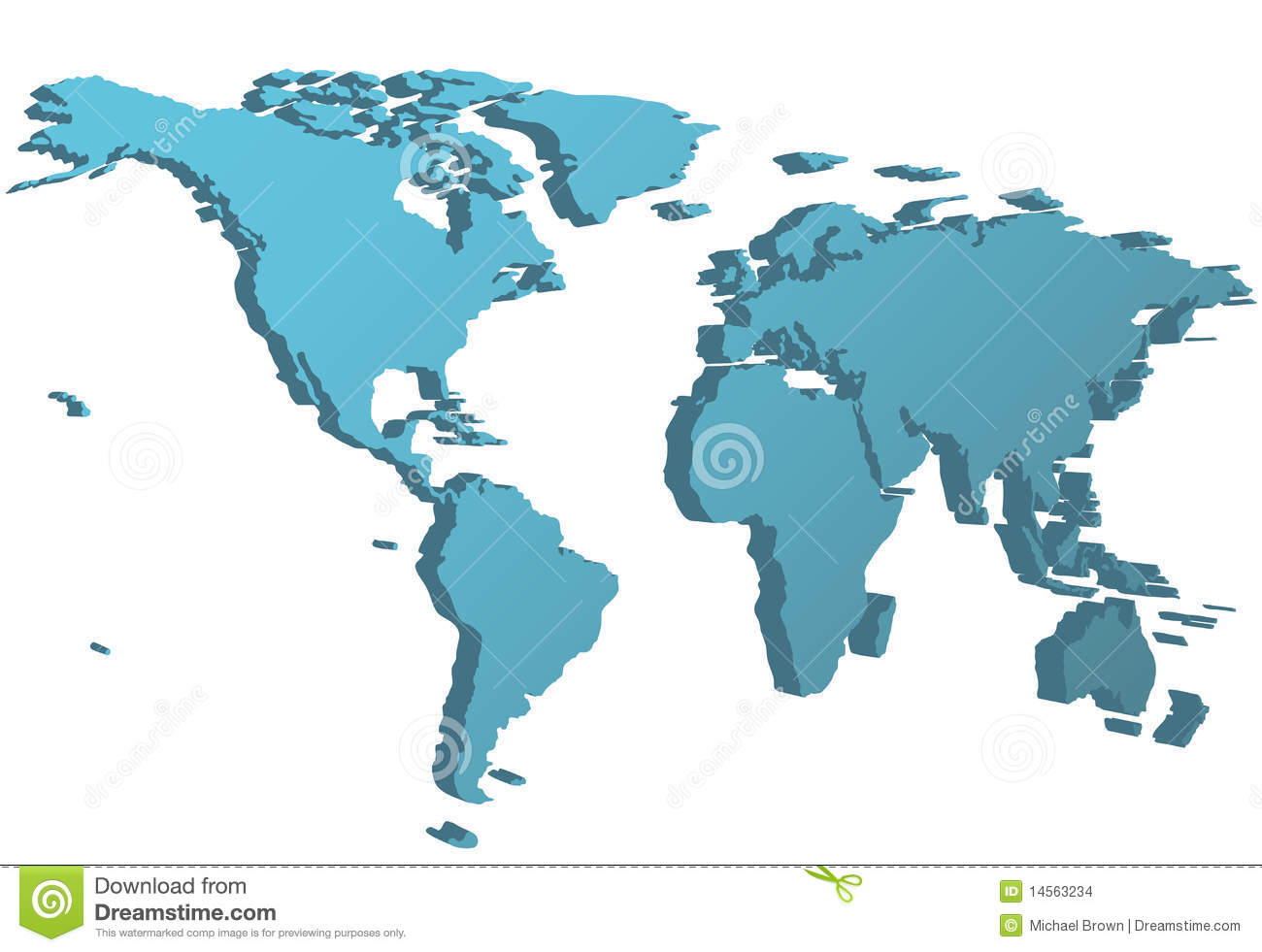 World side view map 3d perspective on earth stock vector world side view map 3d perspective on earth gumiabroncs Image collections