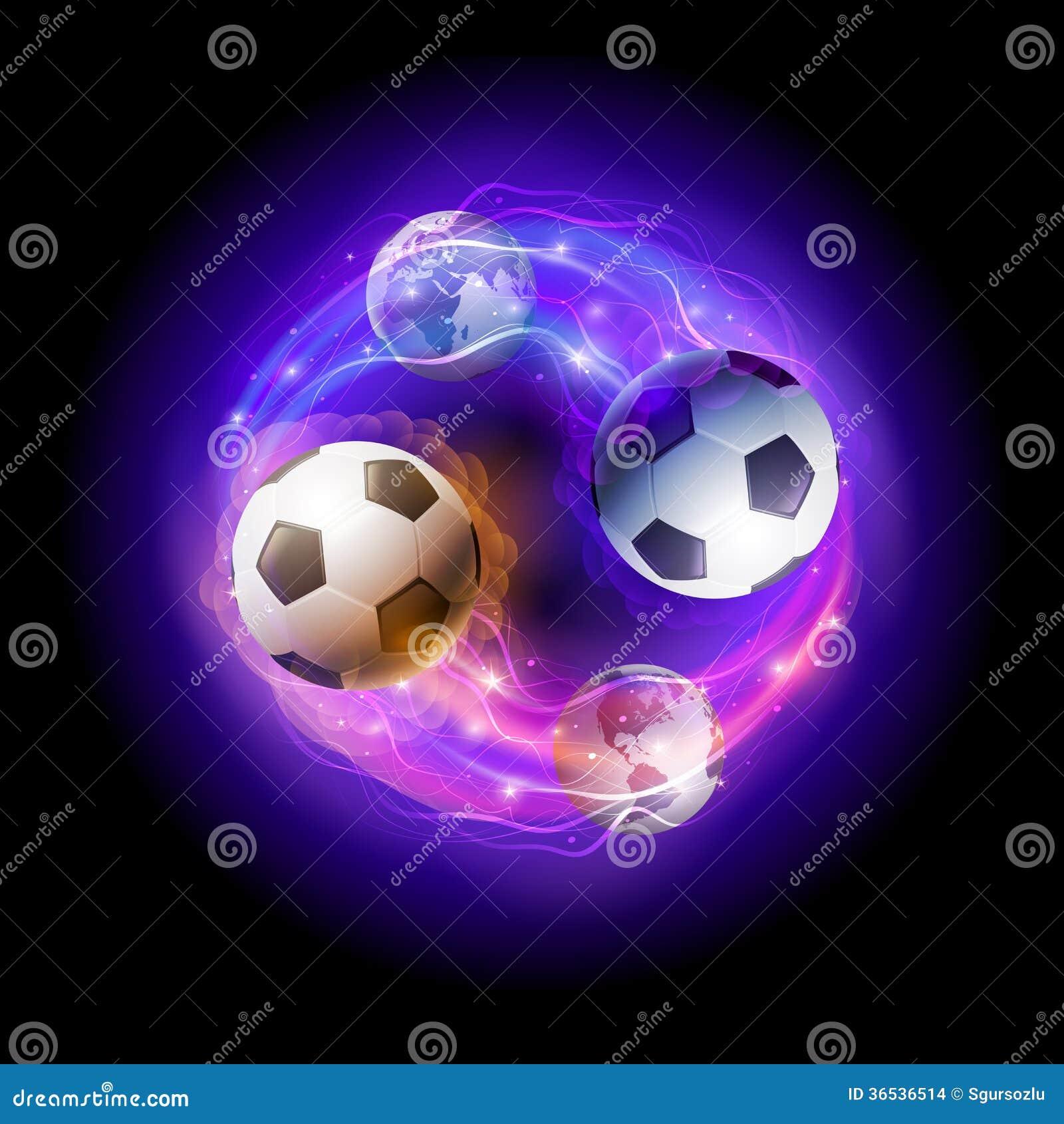 Soccer ball on fire rainbow