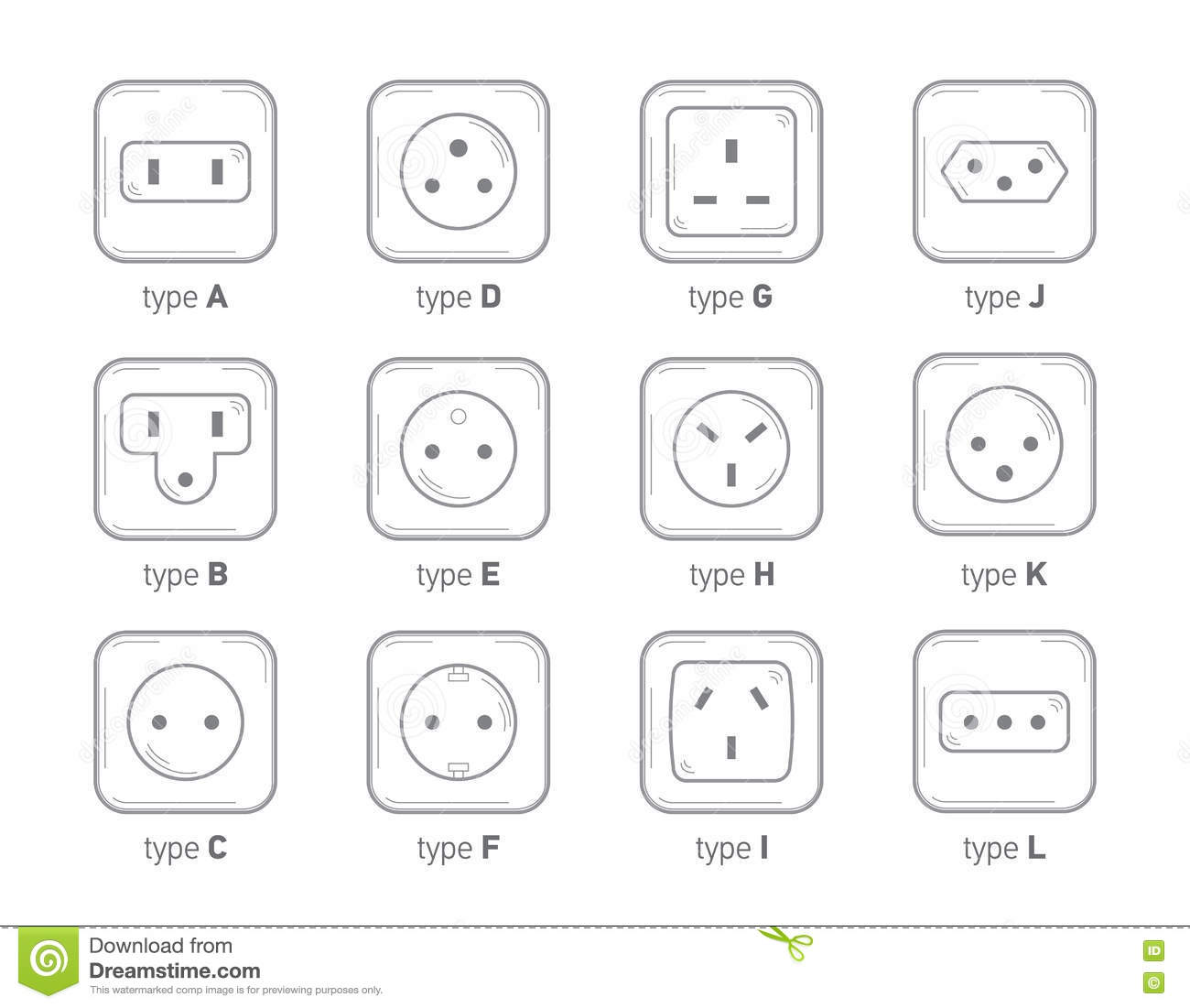 set of icons with different types of electricity generation  cartoon vector