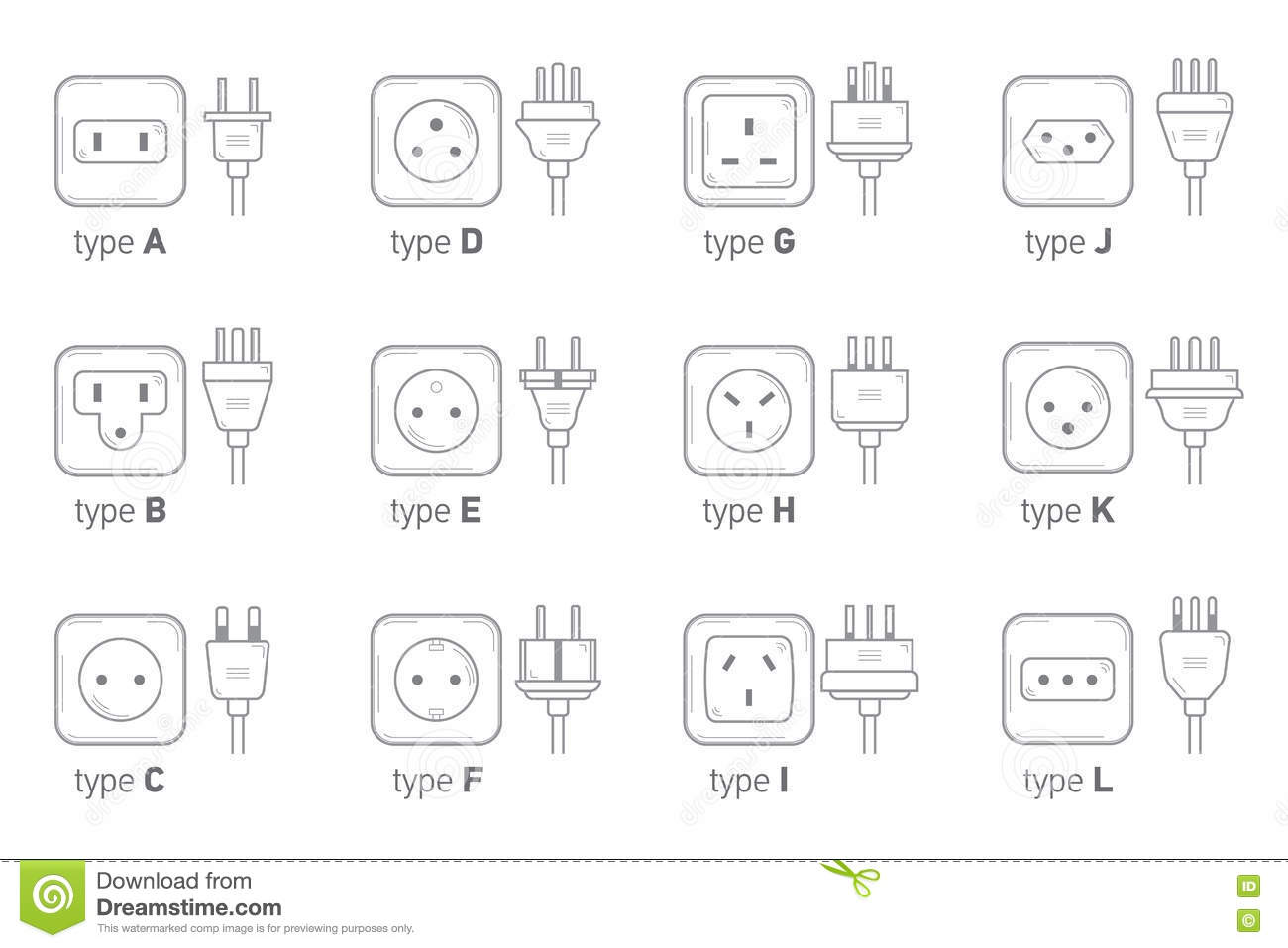 Stock Illustration World Socket Types Collection Electric Outlet Illustration White Background Different Type Power Set Isolated Icon Illustration Image80498351 on electrical outlet box sizes