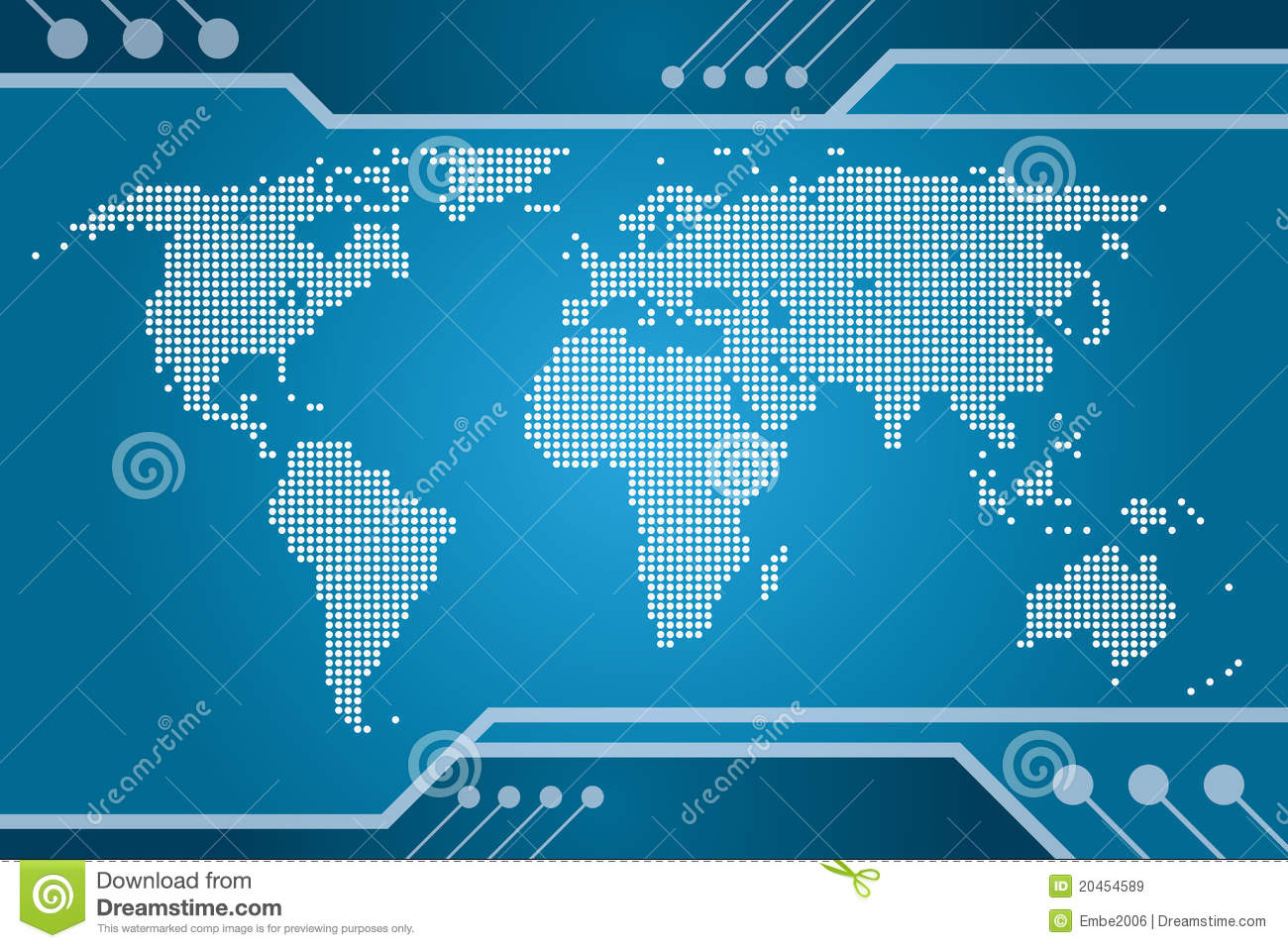 World tech map stock vector illustration of land atlantic 20454589 world tech map royalty free stock photo gumiabroncs Images