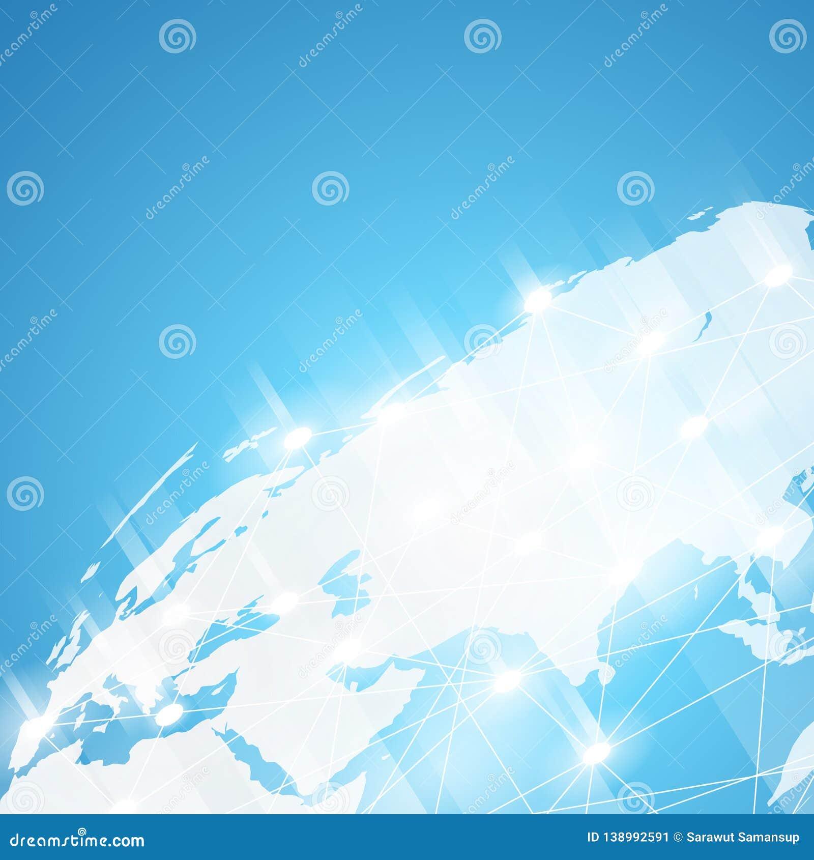 World technology background,worldwide network vector
