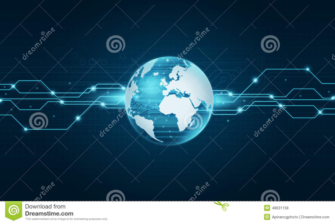 Virtual Design A Room World Technology Internet Connection Background Stock