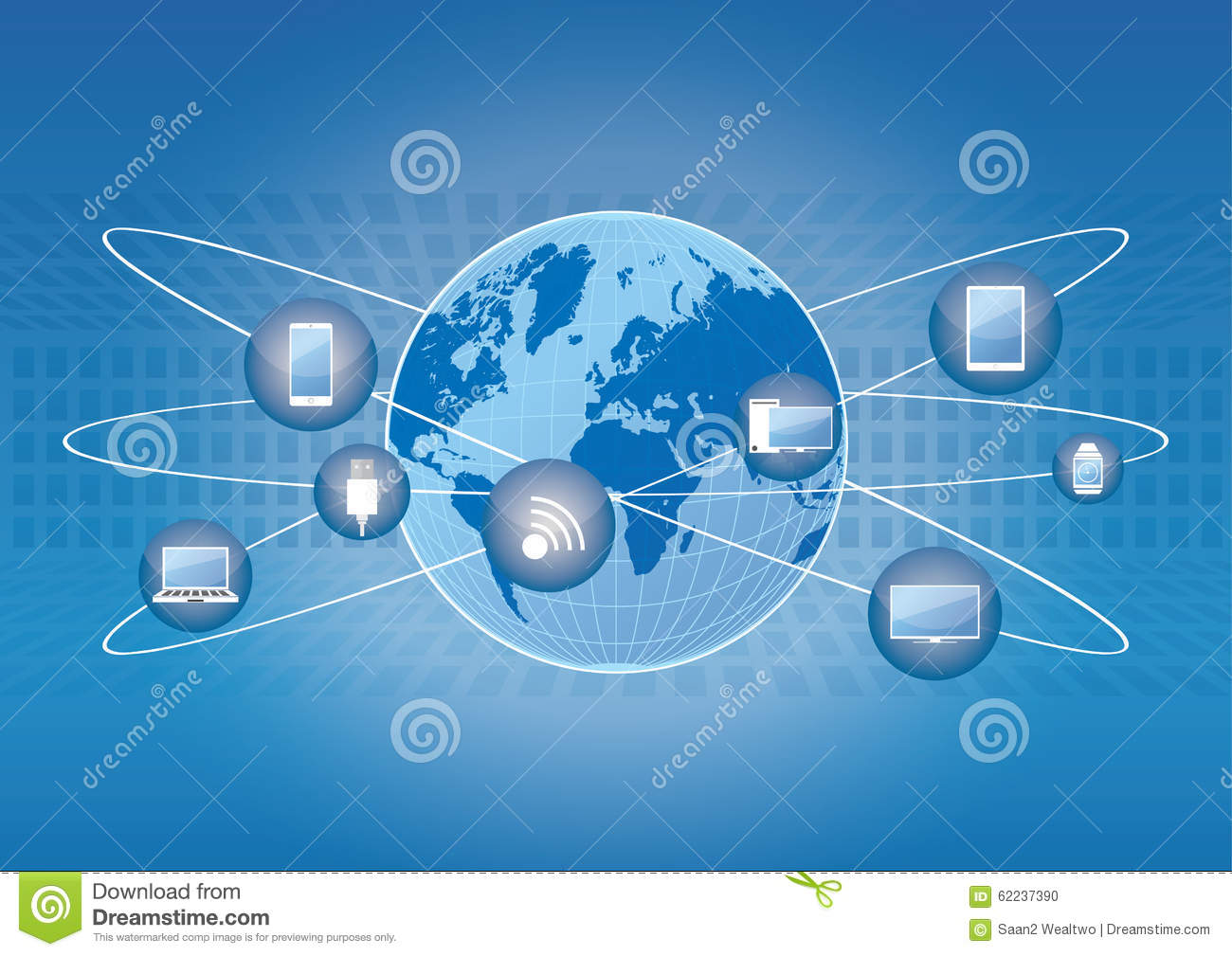 world technology stock vector