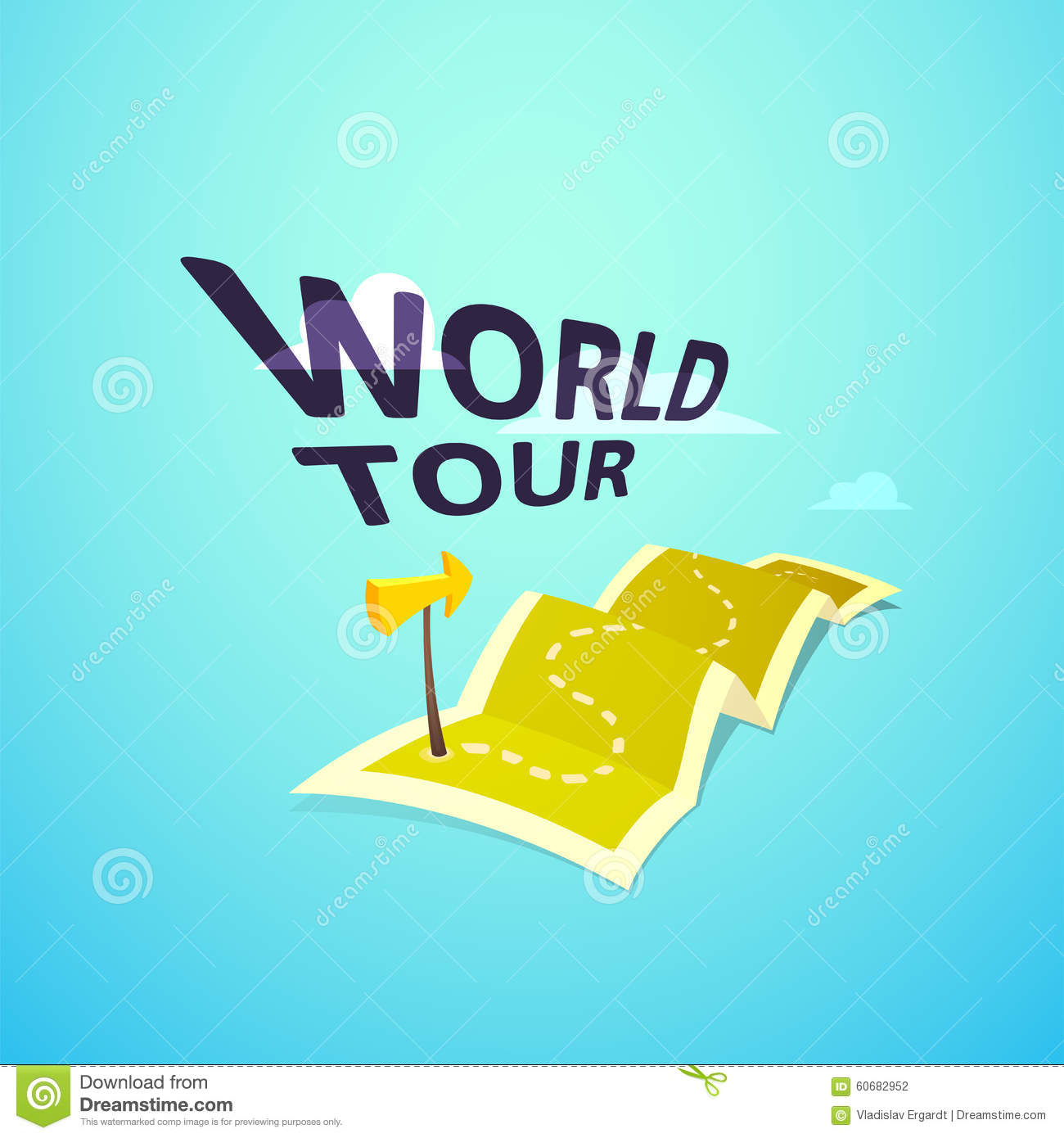 World tour concept logo long route in travel map stock vector download comp gumiabroncs Image collections