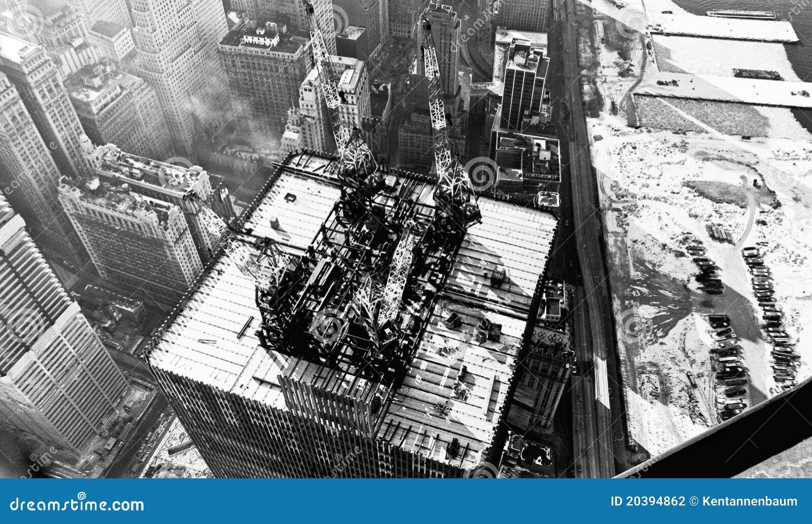 World Trade Center Construction 1971 Stock Photography