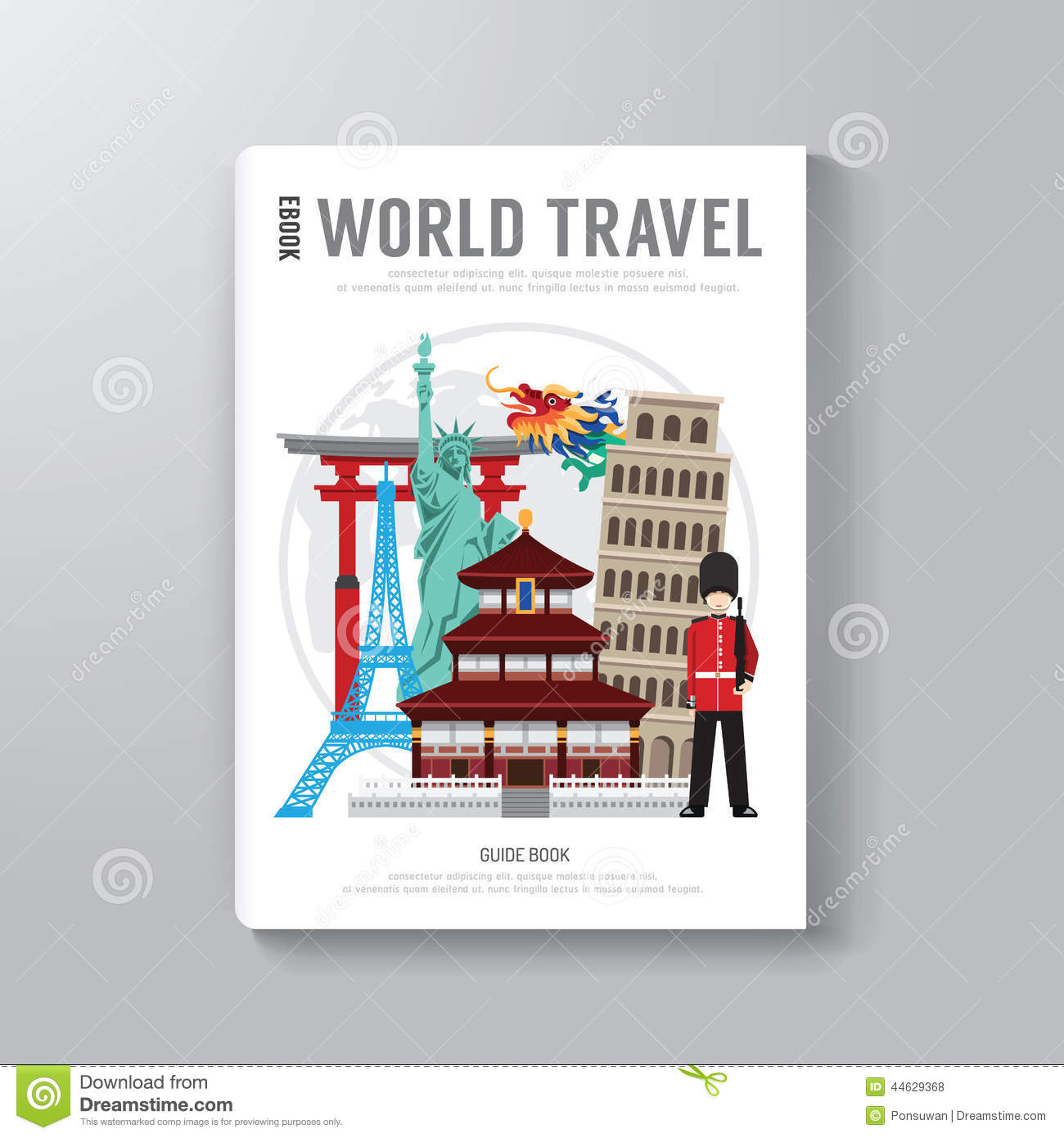 Book Cover Illustration Royalties : World map travel arrangements illustration design royalty