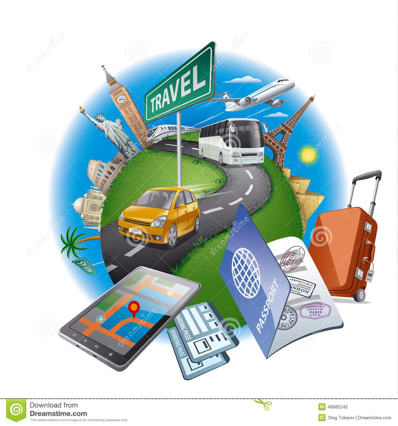 World Travel Concept Stock Vector Image 46685245