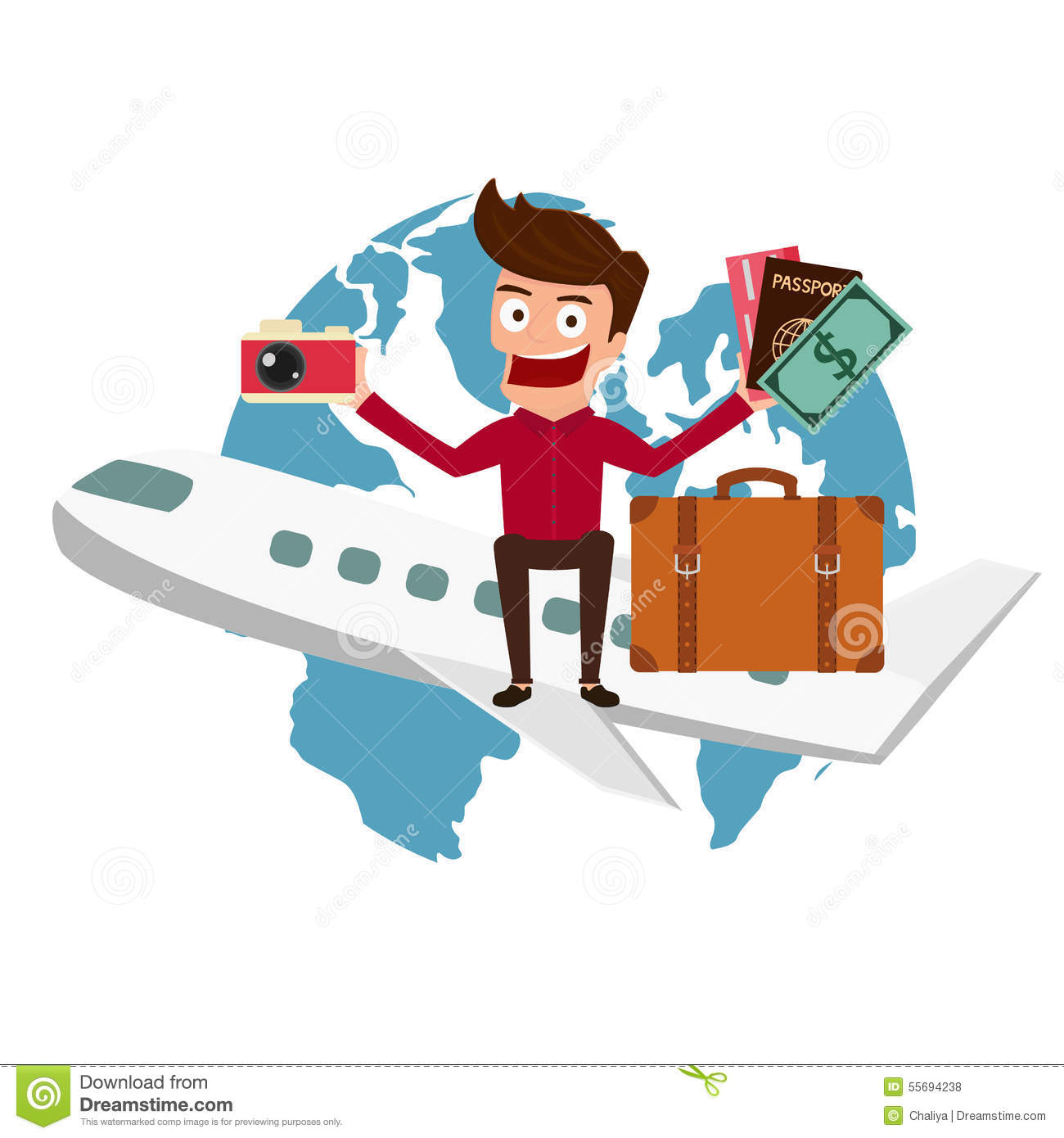 United Baggage Prices World Travel Man Travel Around The World By Airplane