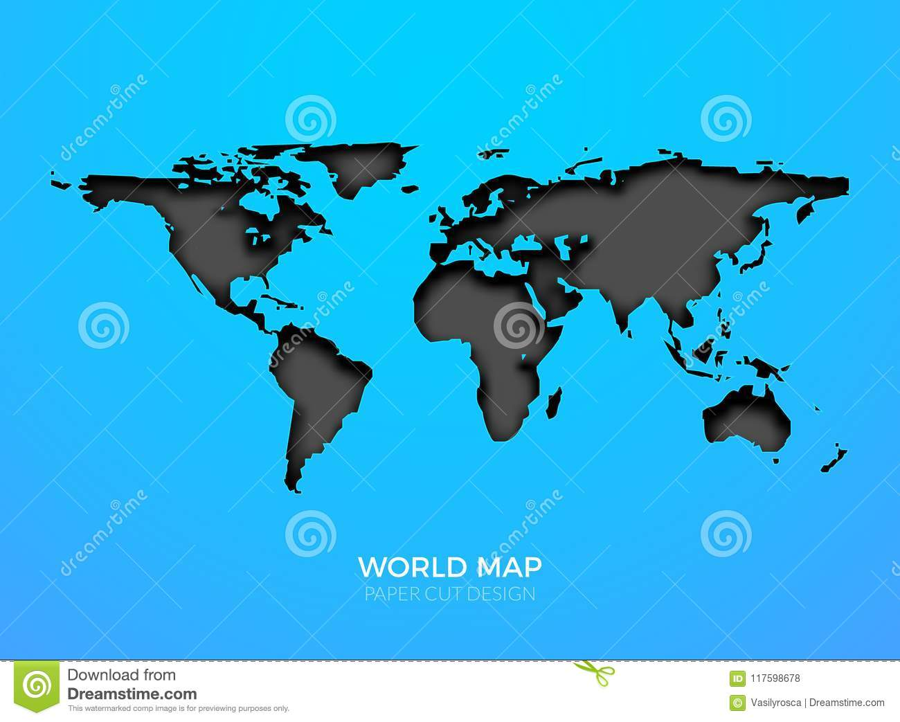 world vector map template isolated world earth geography global