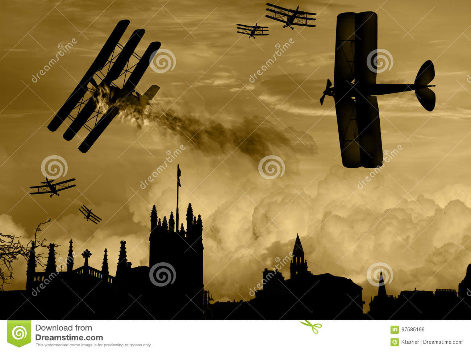 World War 1 Aircraft Scene Stock Illustration - Image ... | 1300 x 989 jpeg 127kB