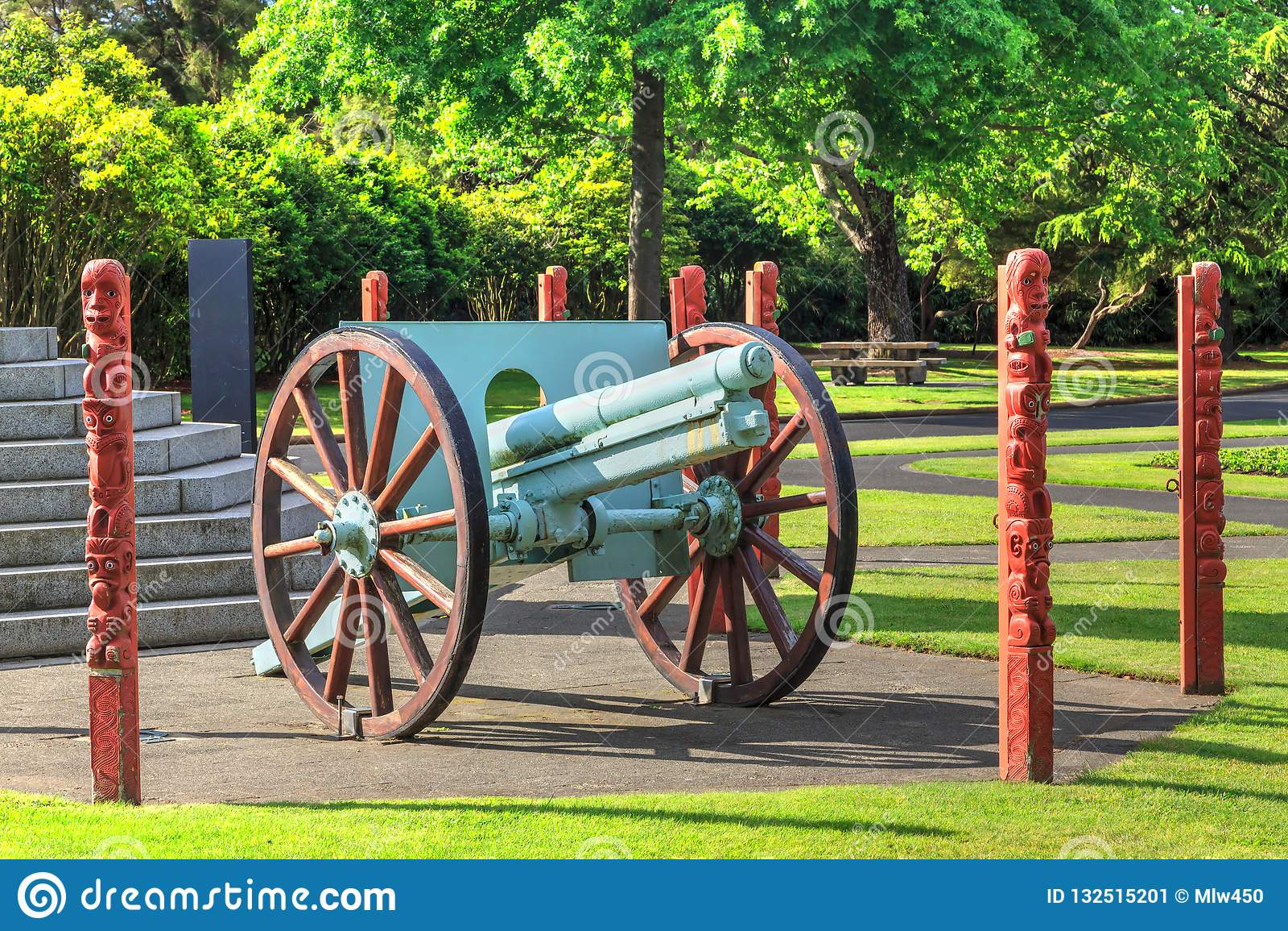World War I Krupp Gun In Government Gardens Park, Rotorua, New