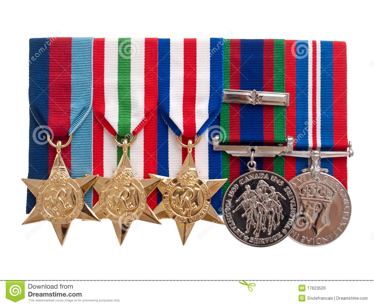 World War II Canadian Medals Stock Photo - Image: 17623520