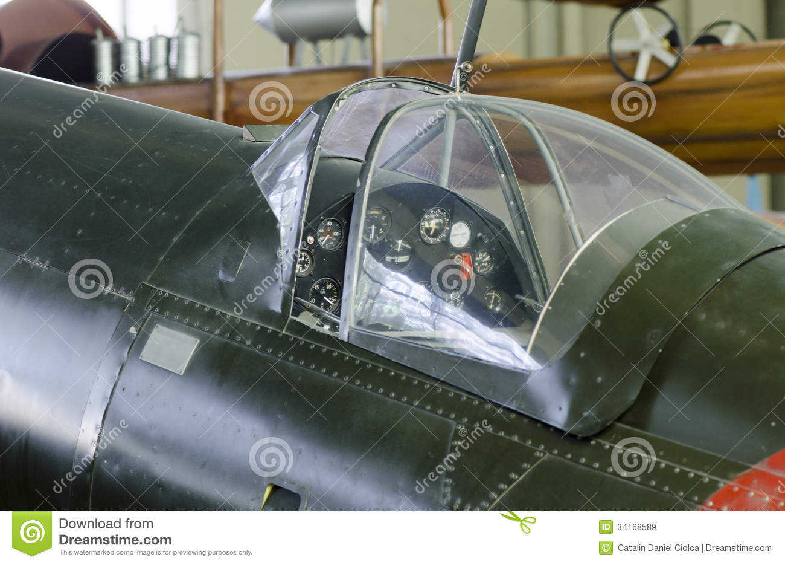 World War Ii Plane Cockpit Royalty Free Stock Images