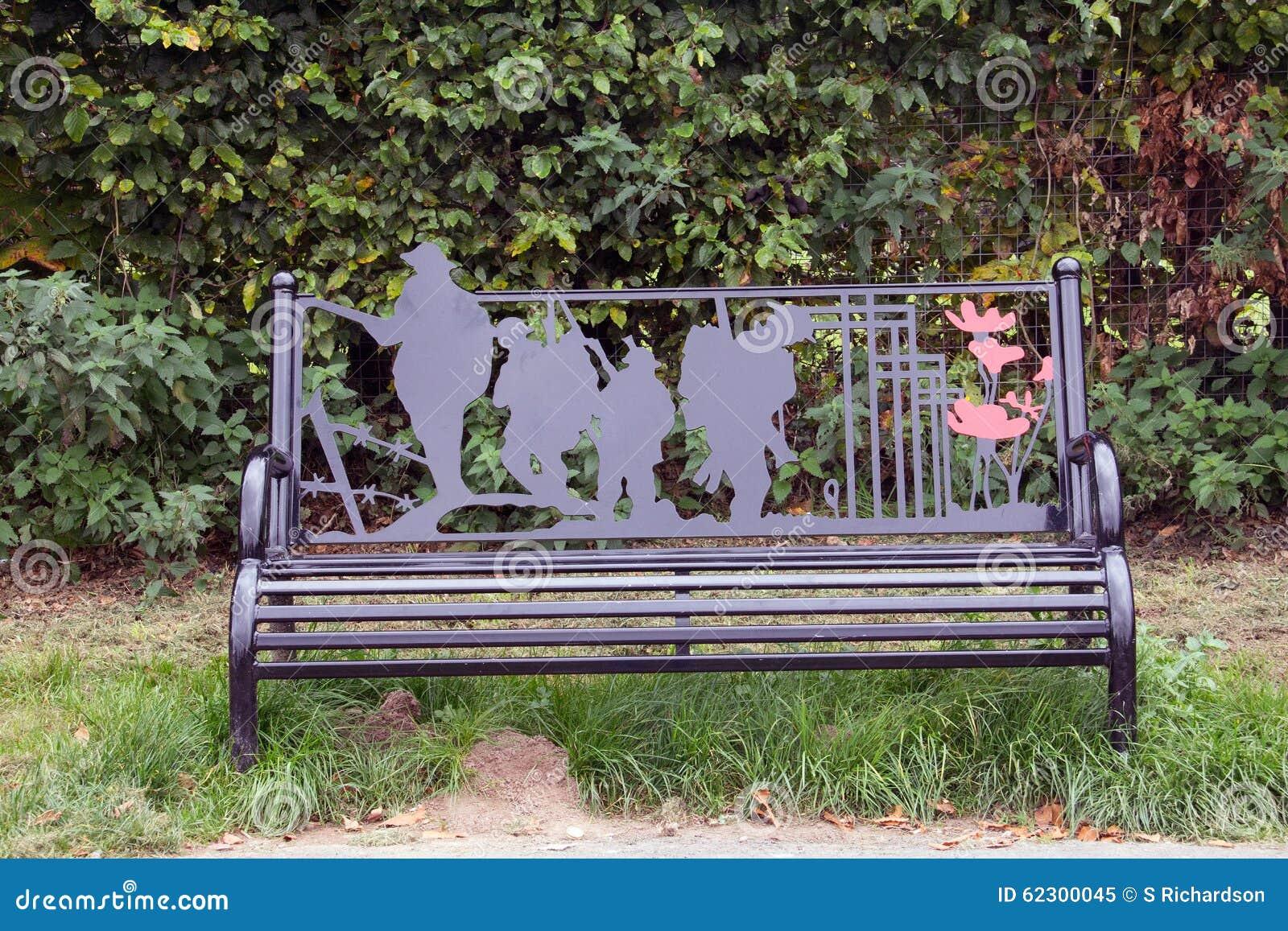 World War 1 Memorial Bench Stock Photo Image 62300045